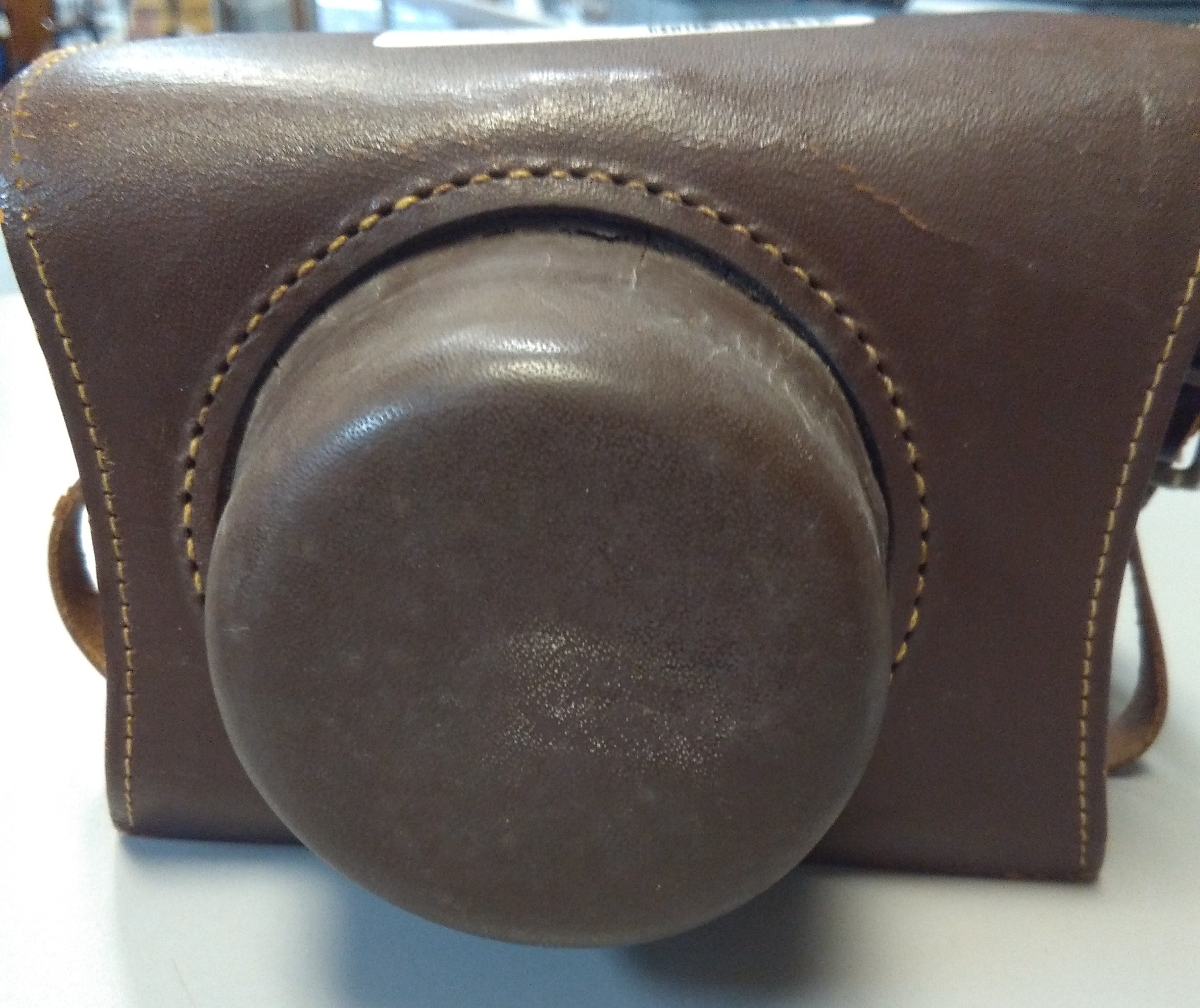 ANSCO PIONEER 35 MM CAMERA IN BROWN LEATHER CASE