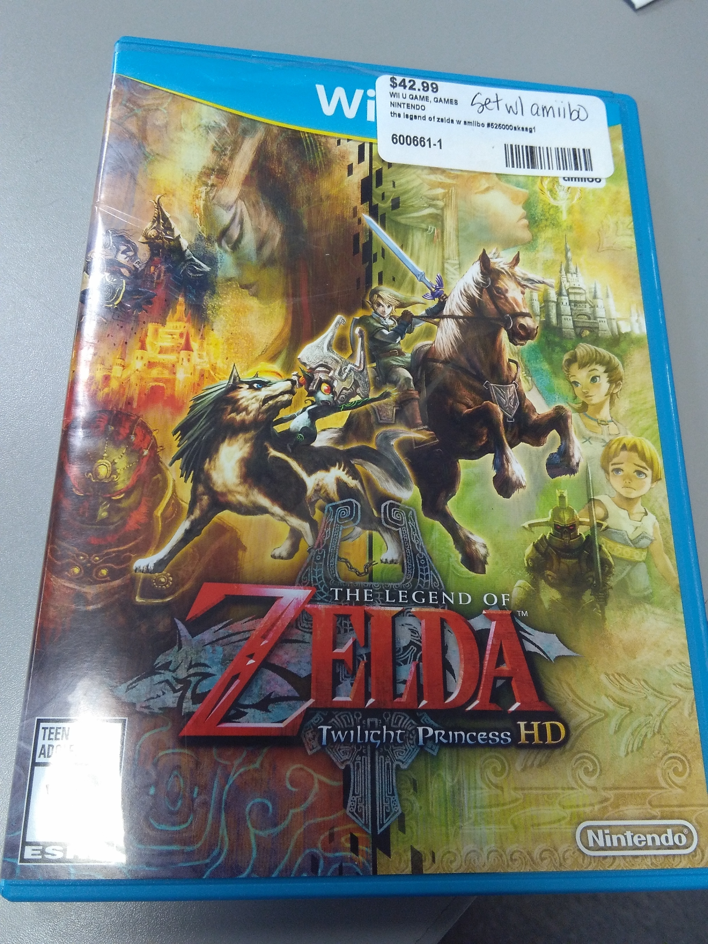 NINTENDO WII U THE LEGEND OF ZELDA TWILIGHT PRINCESS WITH AMIIBO