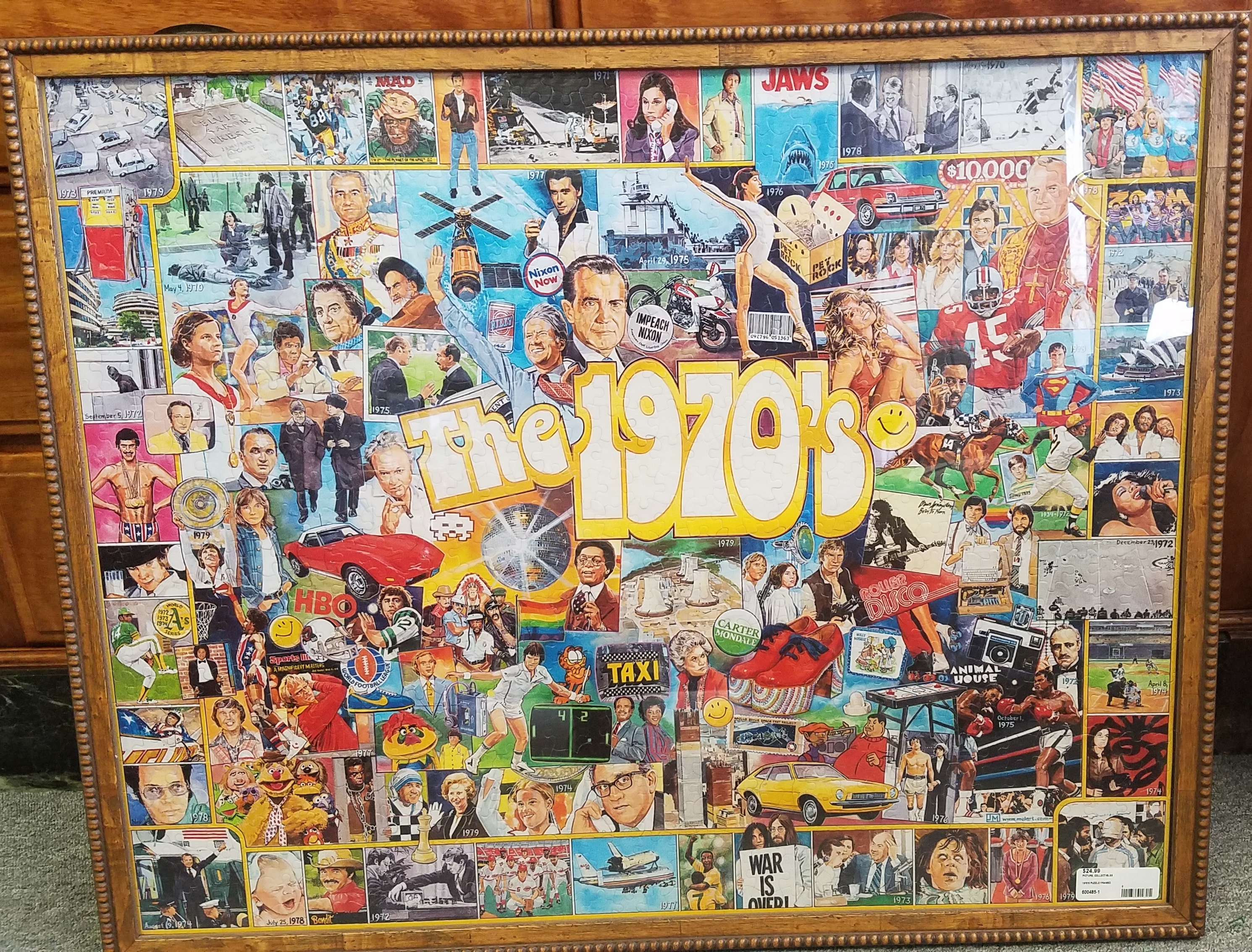 Framed 1970's puzzle