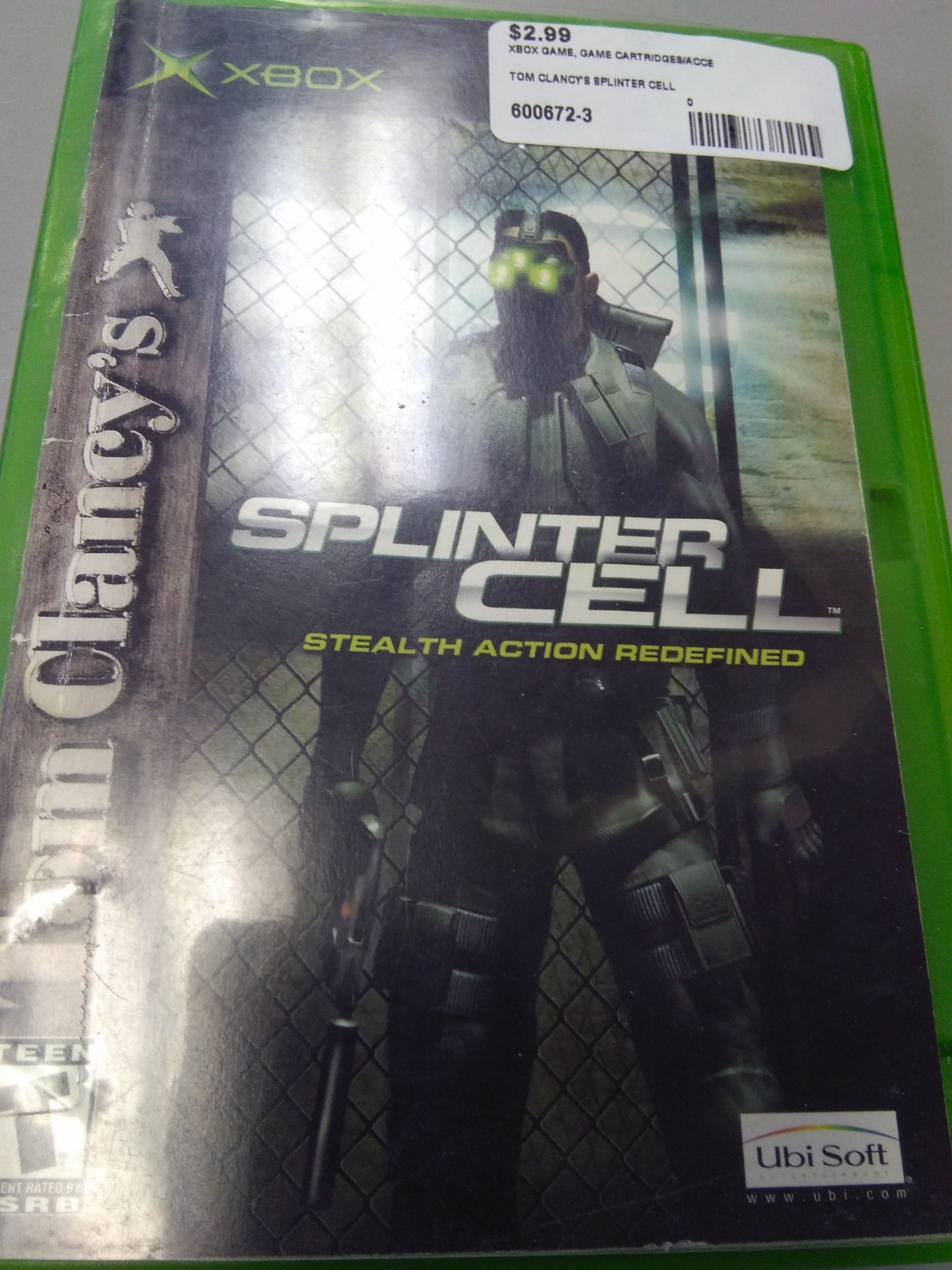 TOM CLANCY'S SPLINTER CELL XBOX GAME