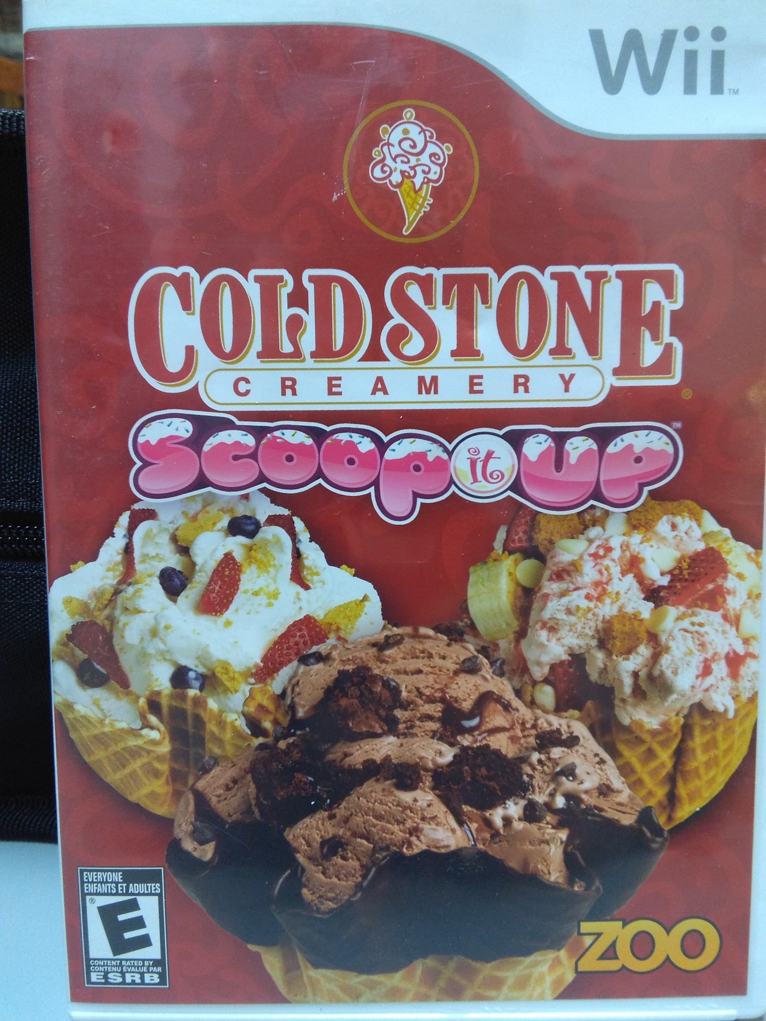 Cold Stone Creamery Scoop it Up WII GAME