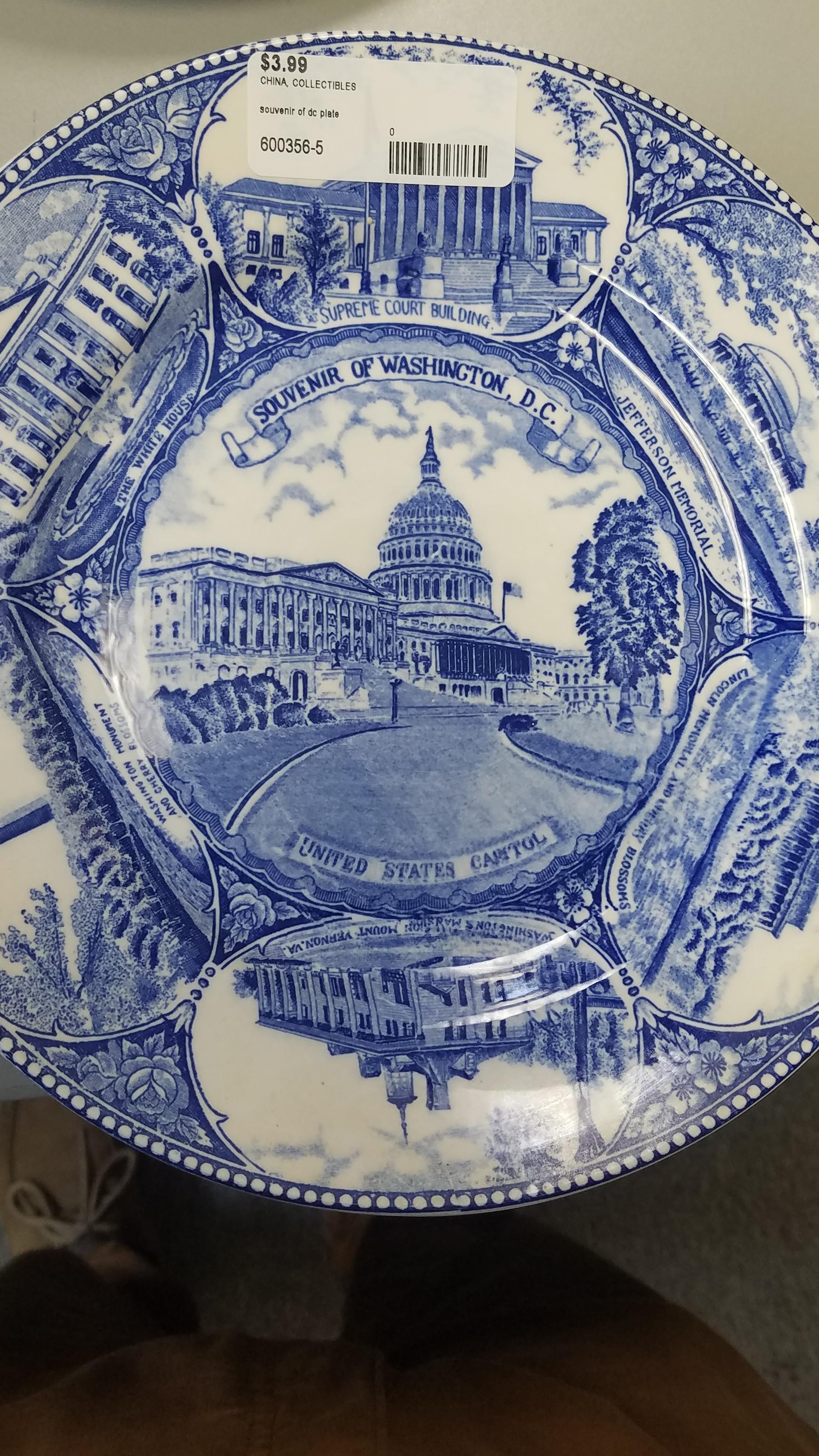 Souvenir of dc plate