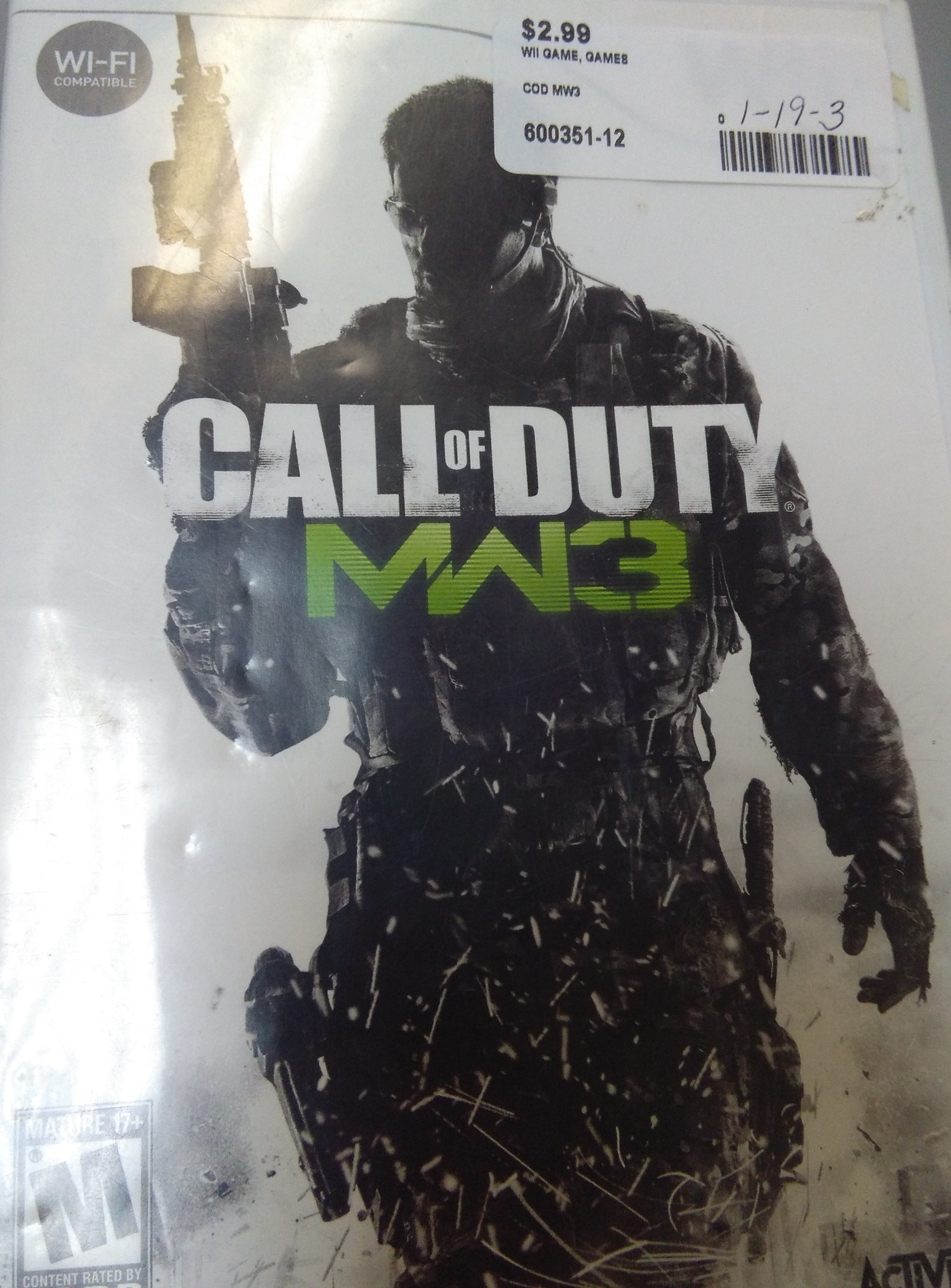 Call of Duty MW3 WII GAME