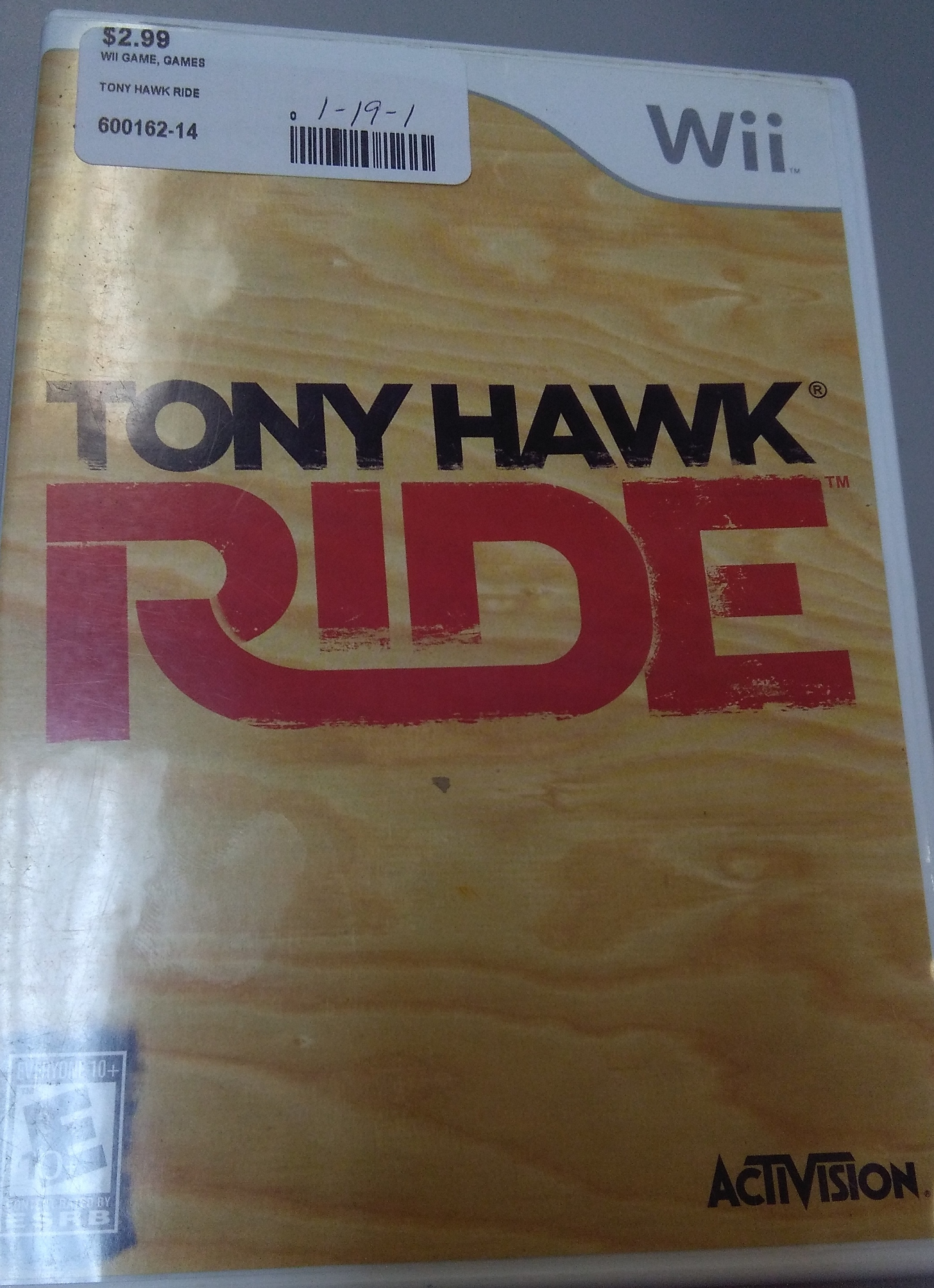 TONY HAWK RIDE WII GAME