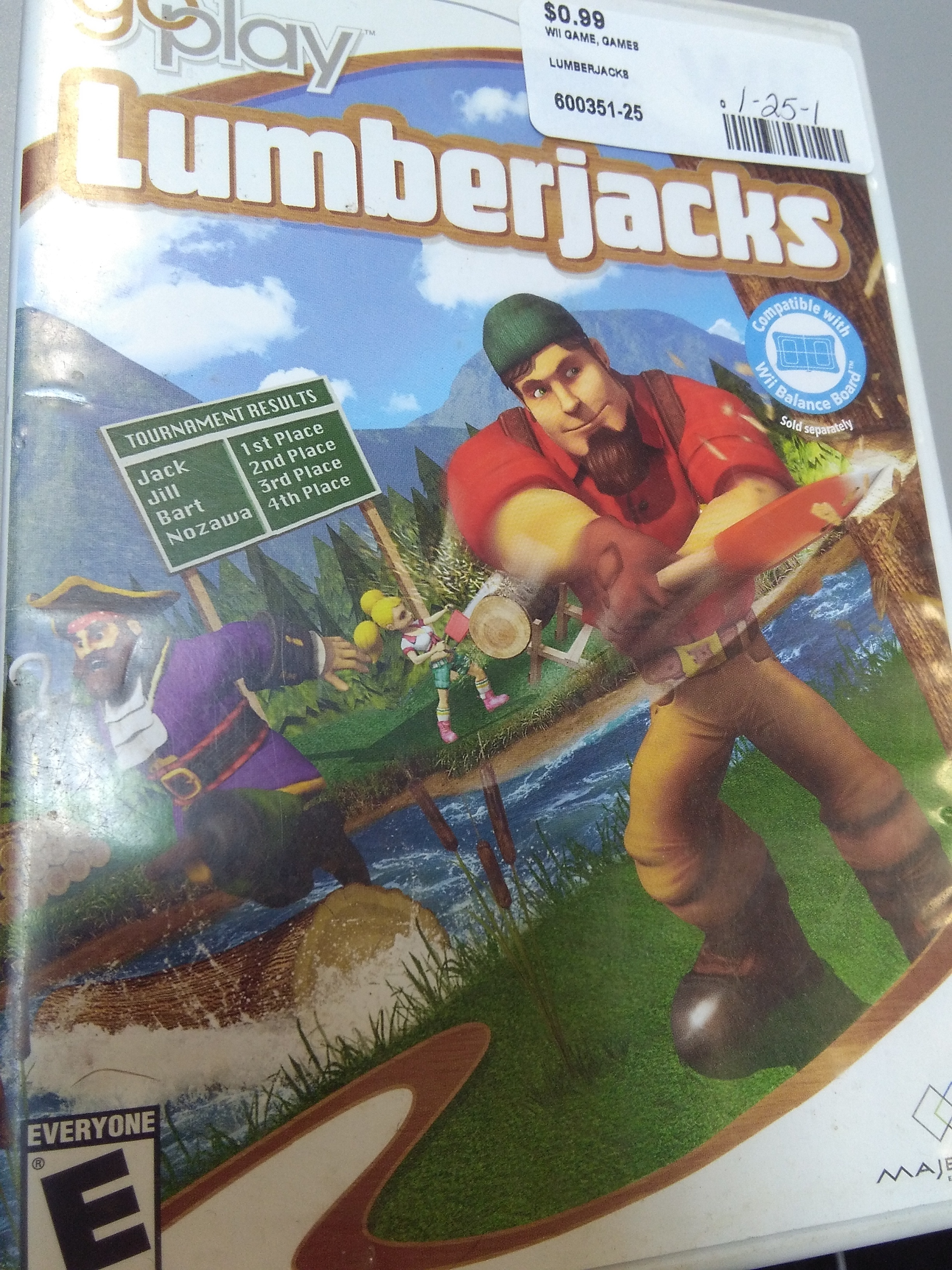 LUMBERJACKS WII GAME
