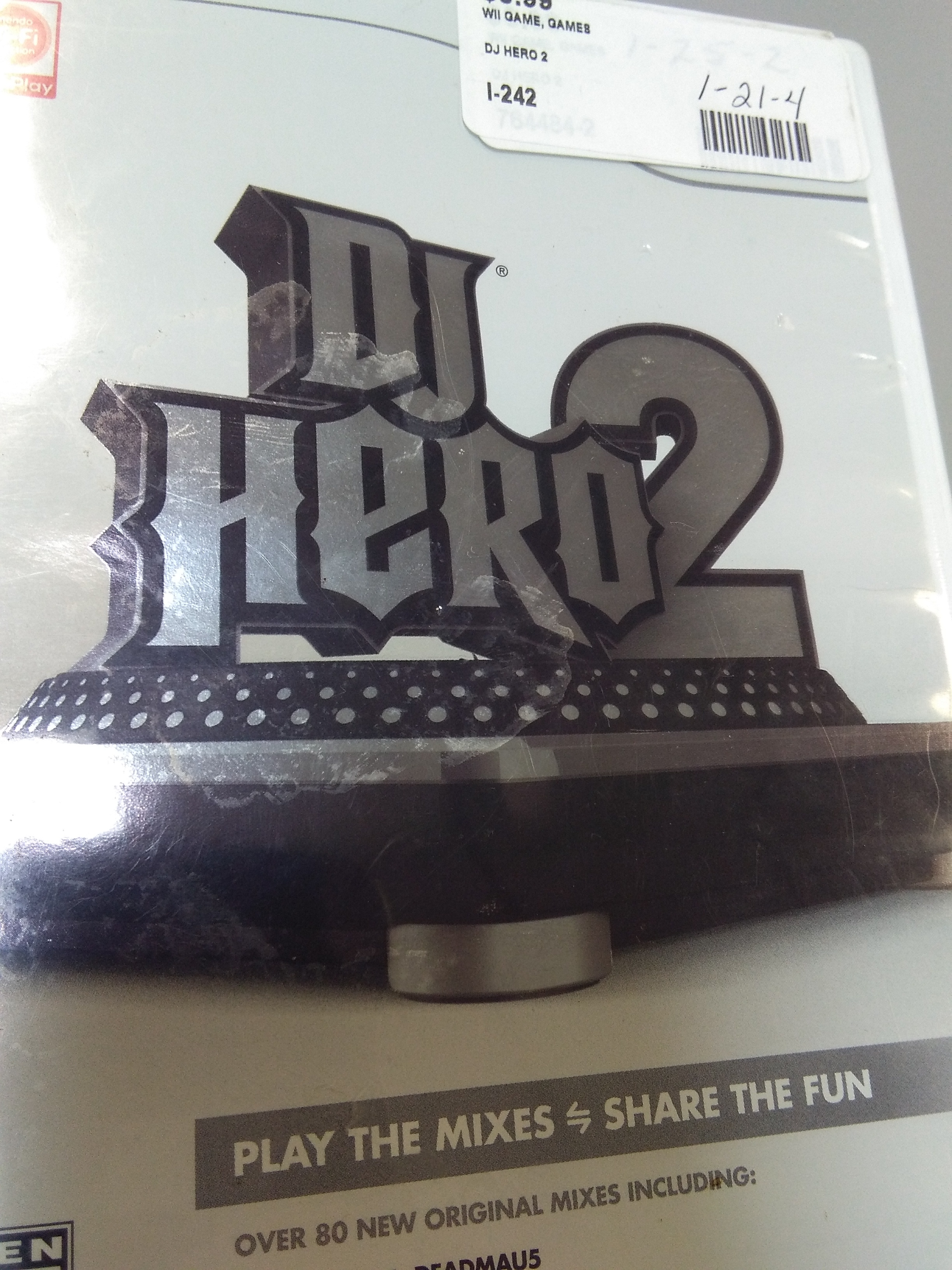 DJ HERO 2 WII GAME