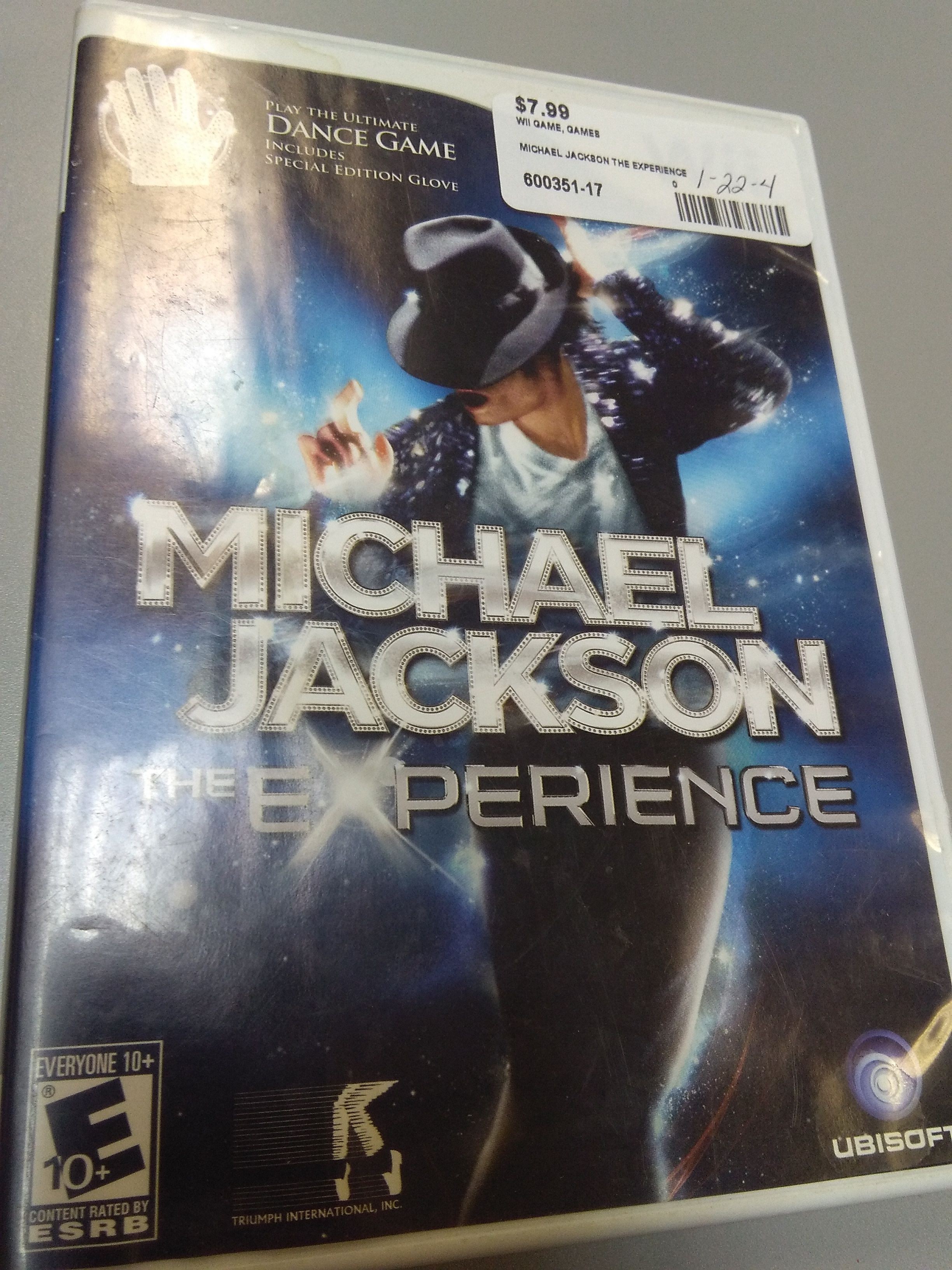 MICHAEL JACKSON THE EXPERIENCE WII GAME