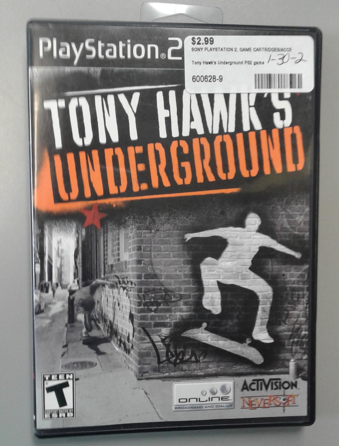 TONY HAWKS UNDERGROUND FOR PS 2