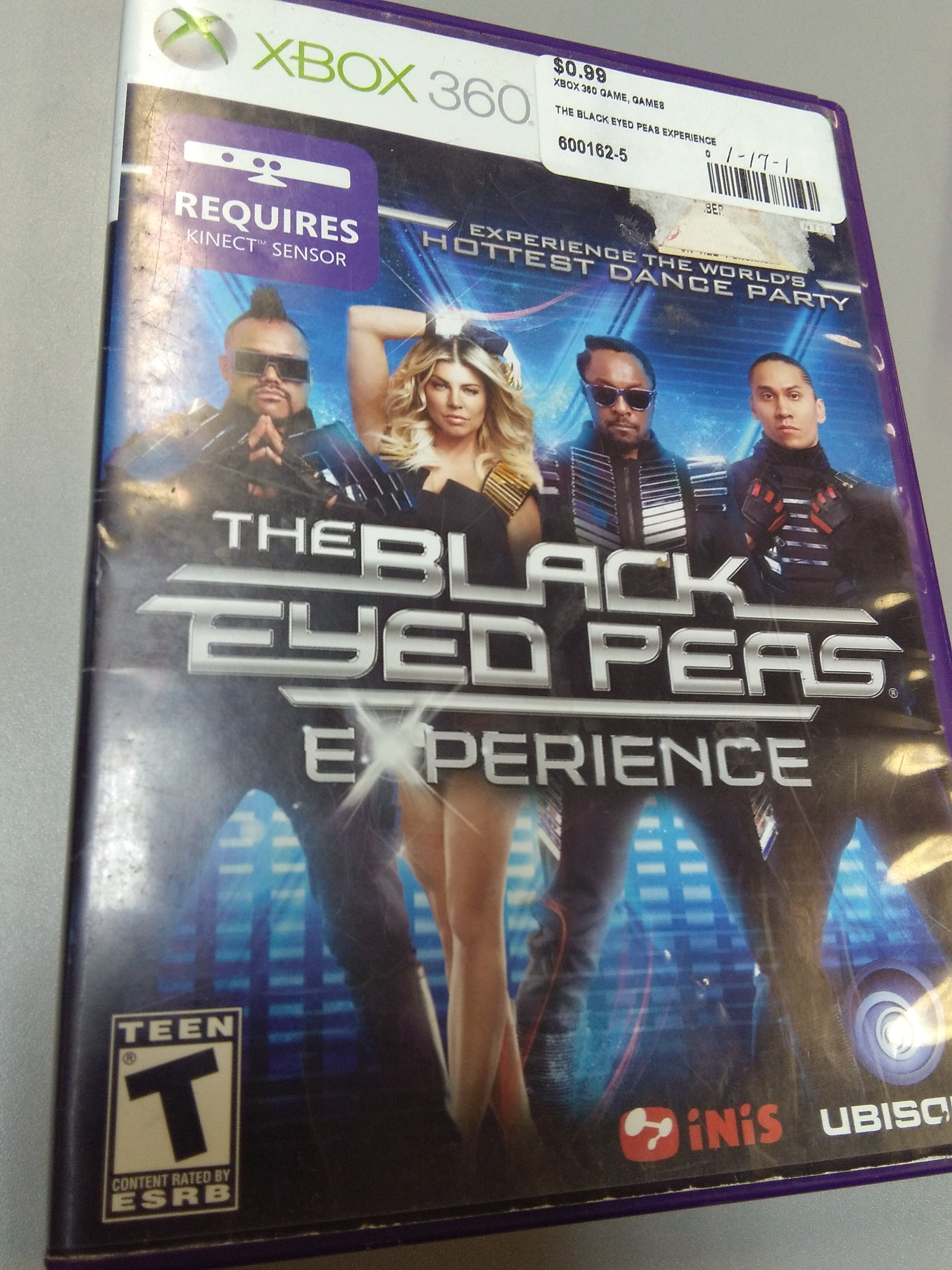 THE BLACK EYED PEAS EXPERIENCE XBOX 360 GAME