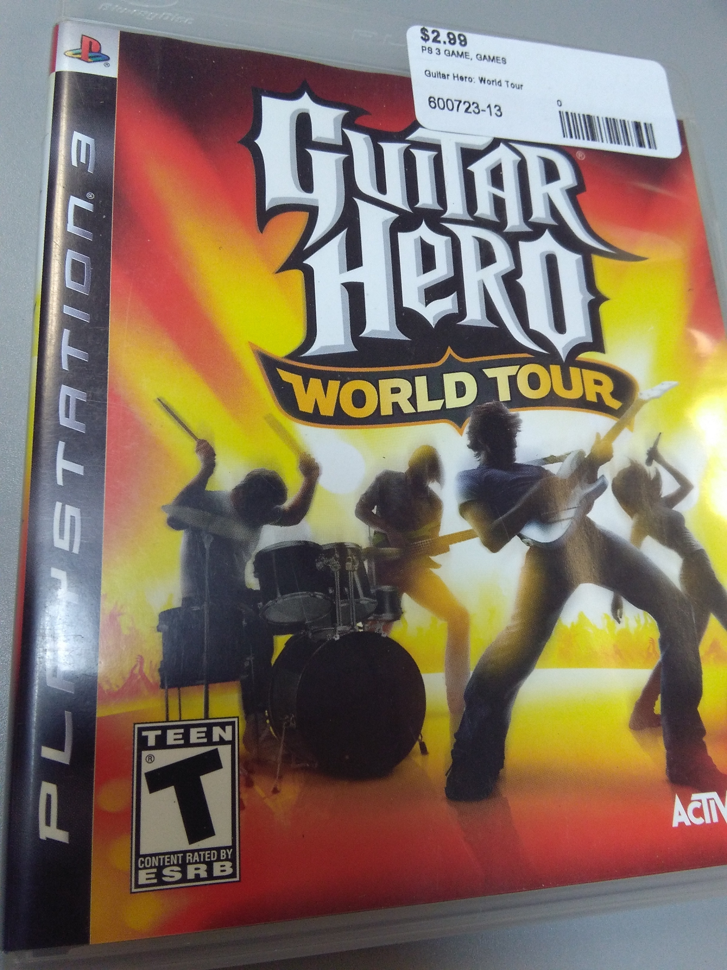 Guitar Hero: World Tour game for PS3