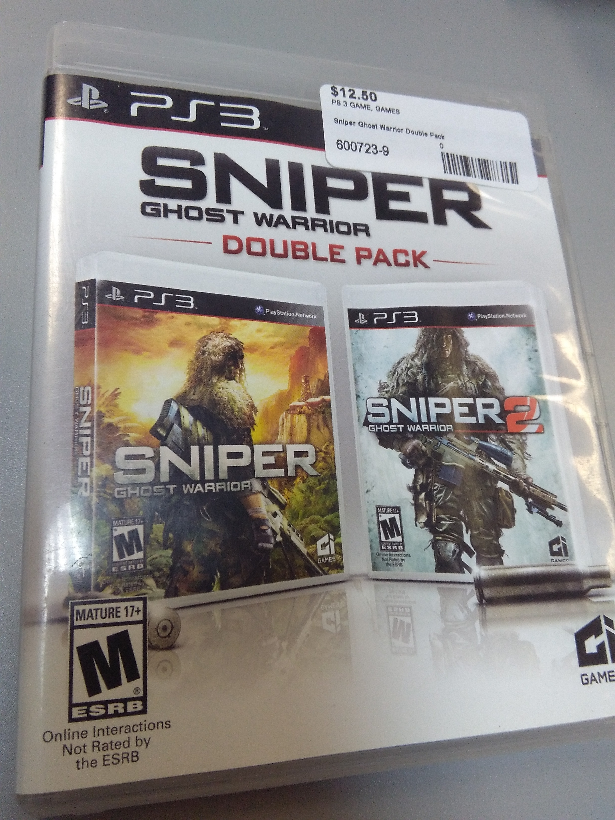 Sniper ghost warrior double pack for PS3