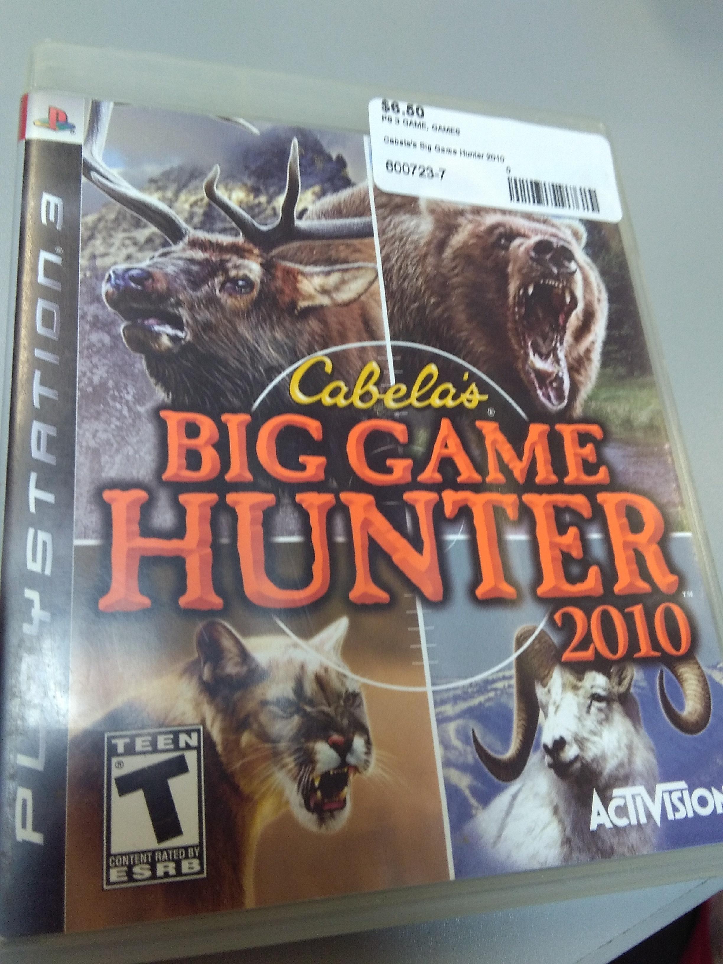 Cabela's big game hunter 2010 for PS3