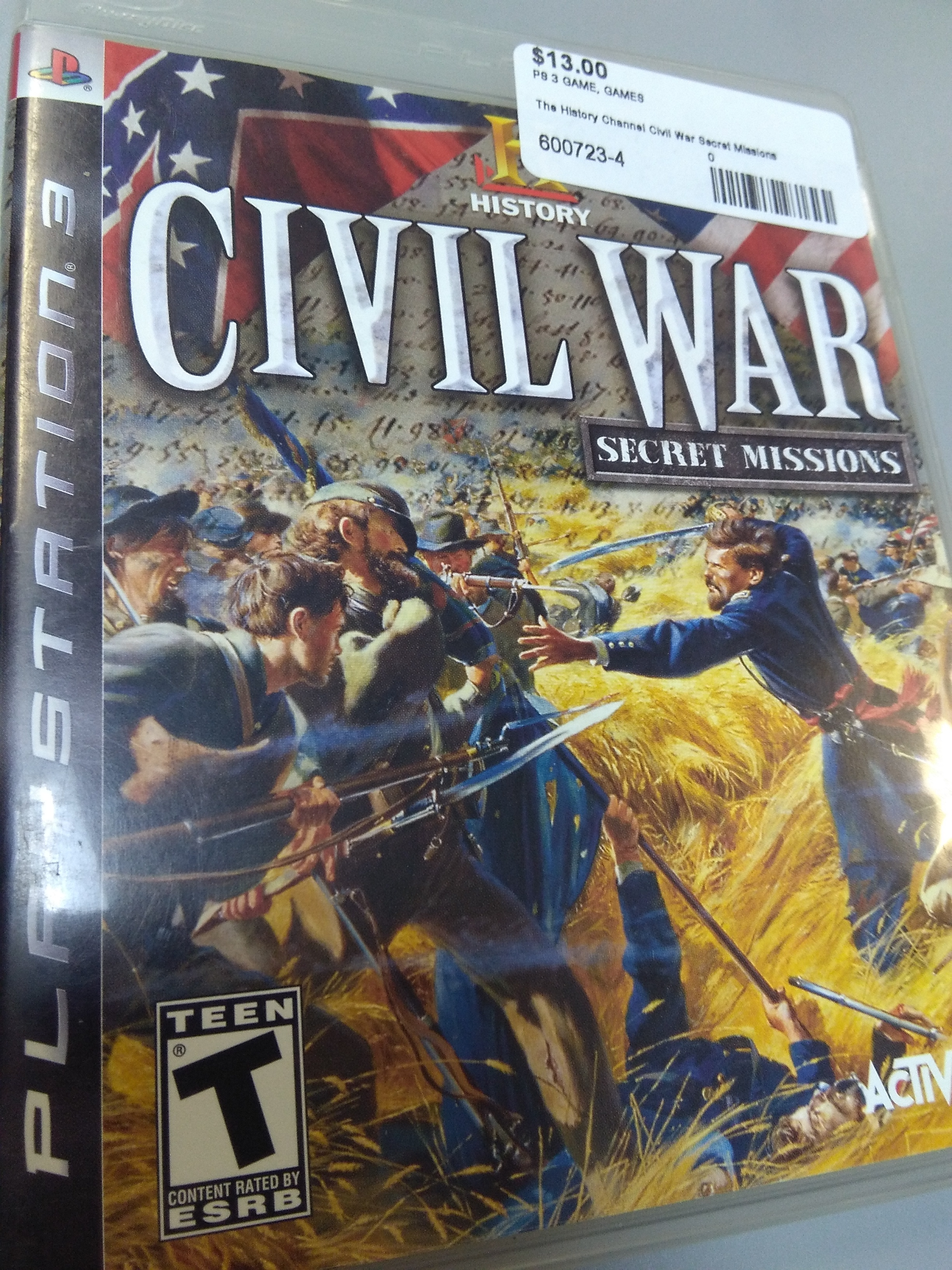 The History Channel Civil War Secret Missions for PS3