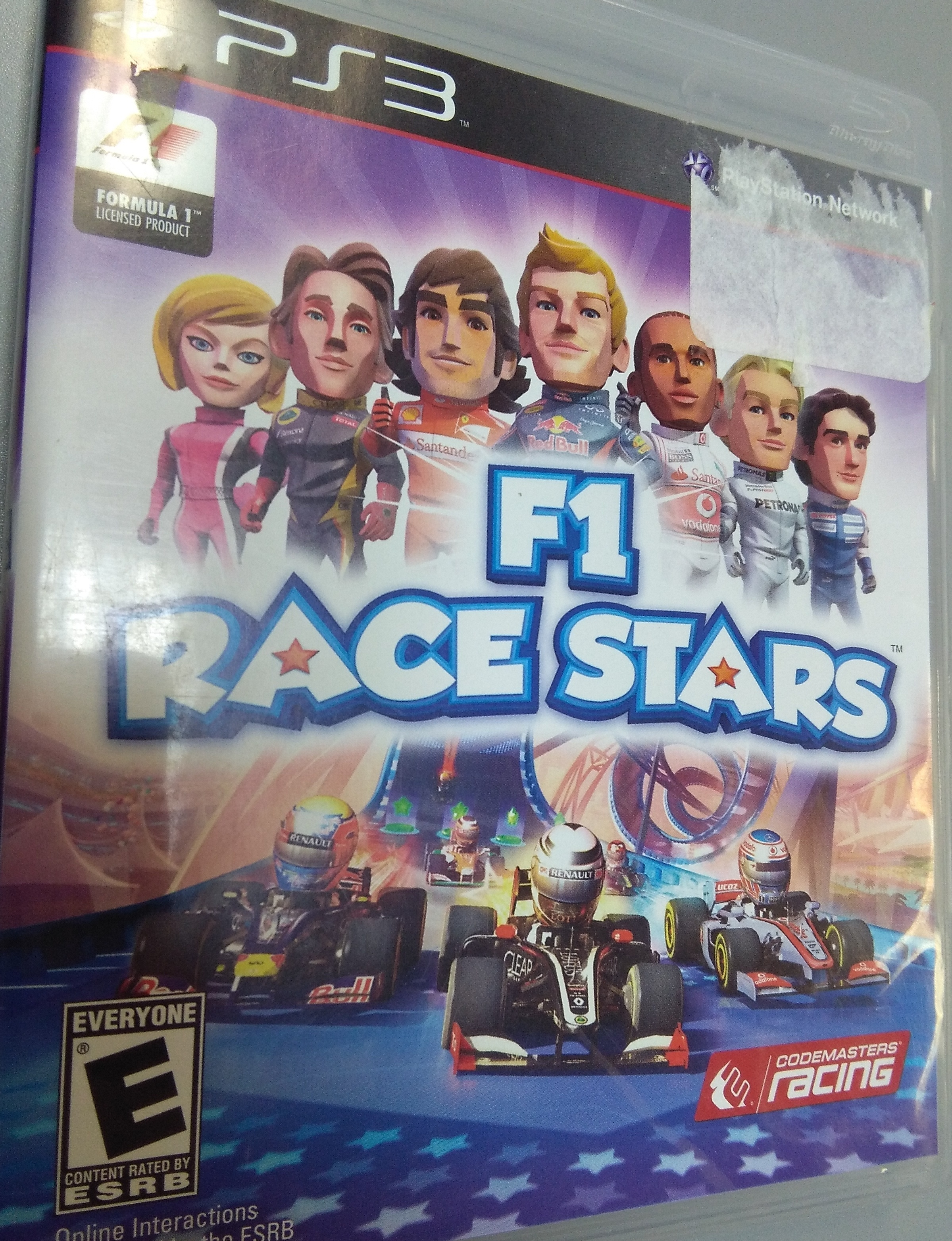 F1 Race Stars PlayStation 3 GAME