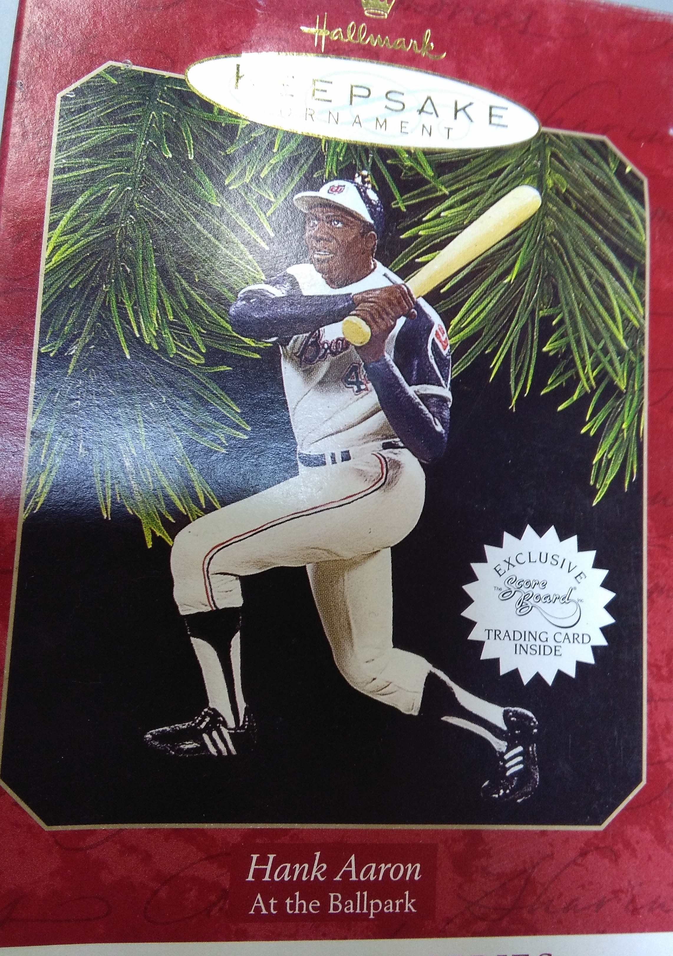Hank Aaron Christmas Ornament