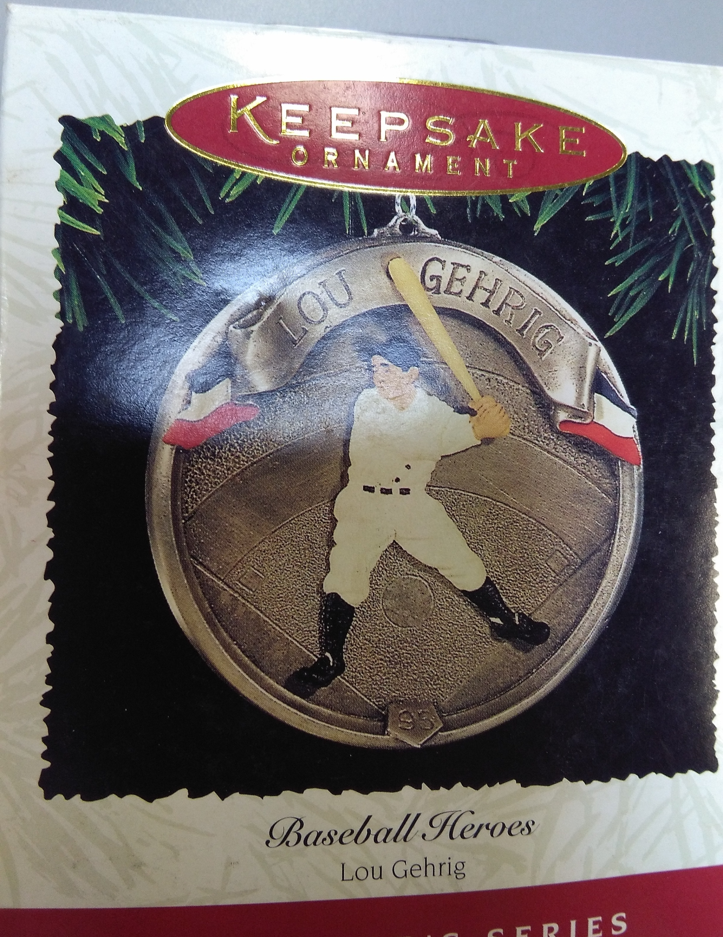 Lou Gehrig Christmas Ornament