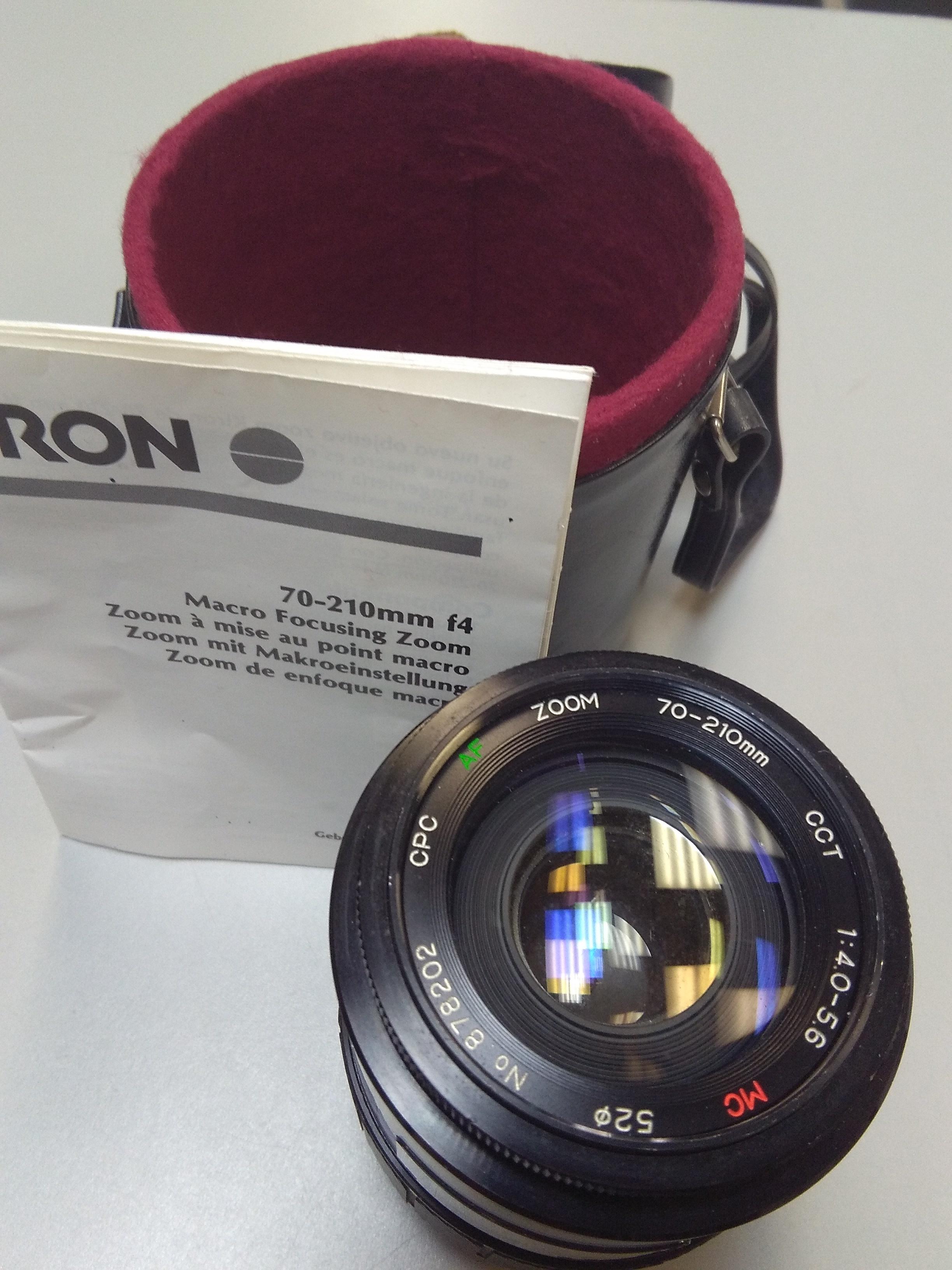 Kiron CPC AF Zoom 70-210 mm Lens