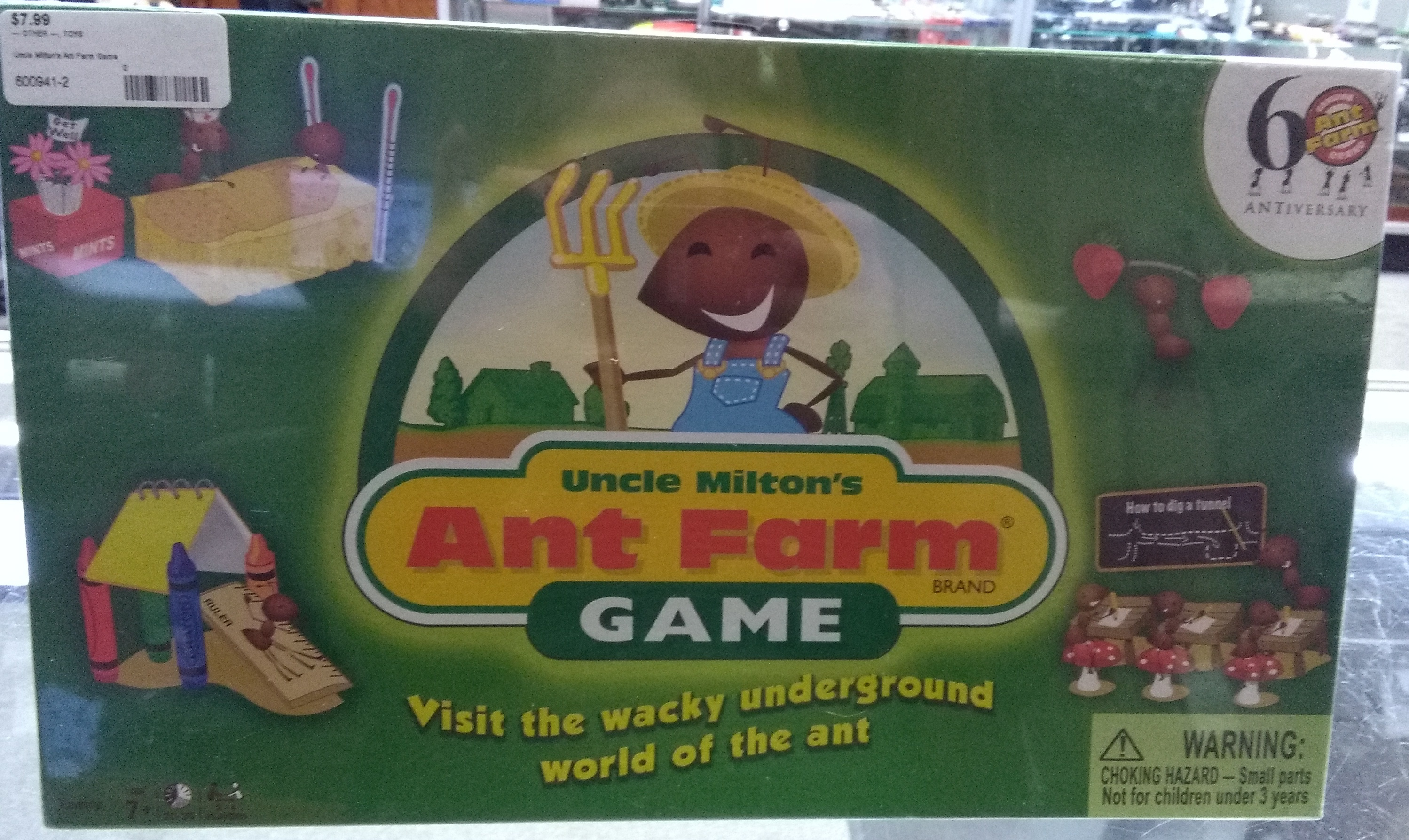Uncle Milton's Ant Farm Game Boardgame