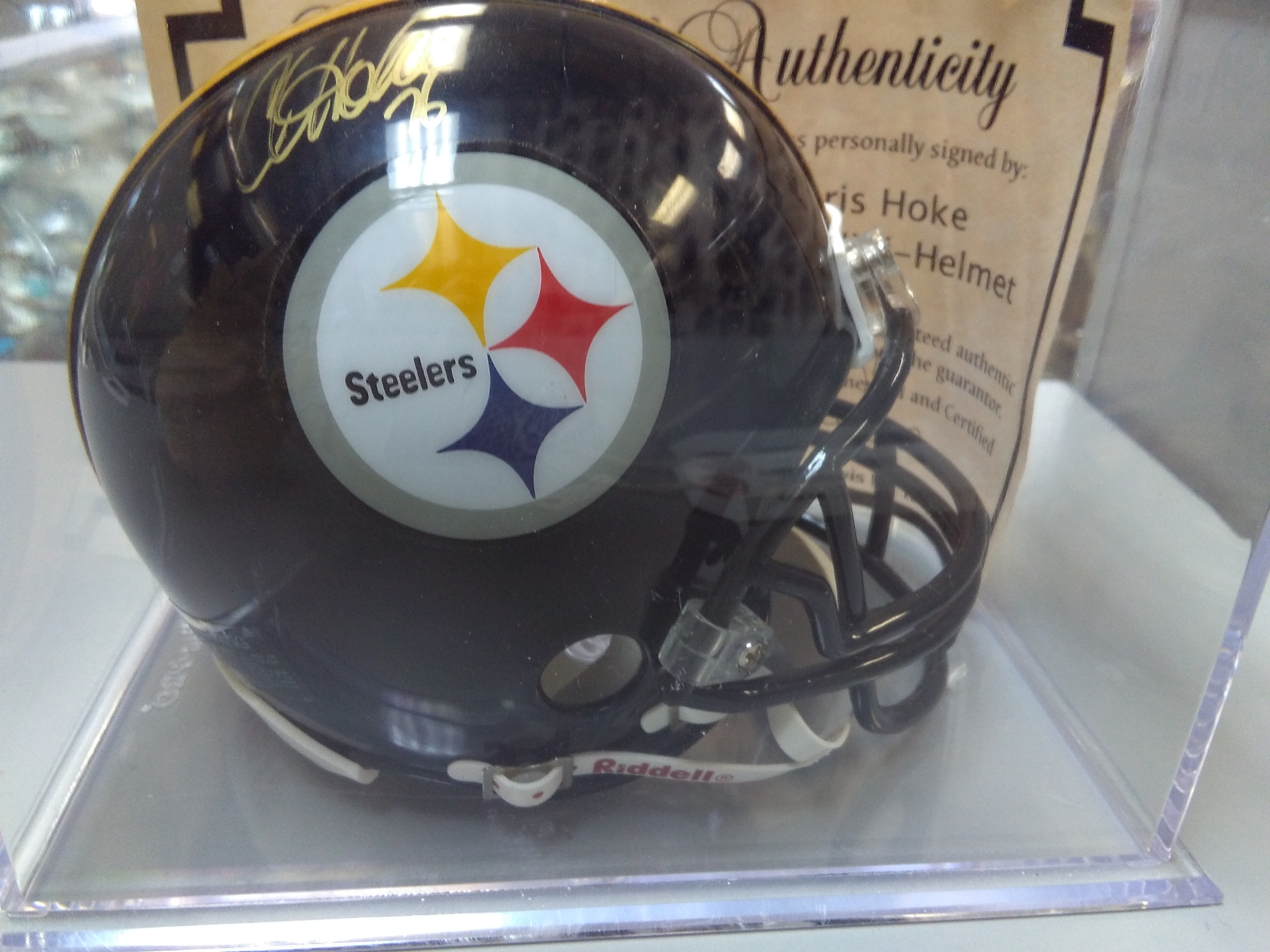 Chris Hoke Autographed Mini Helmet