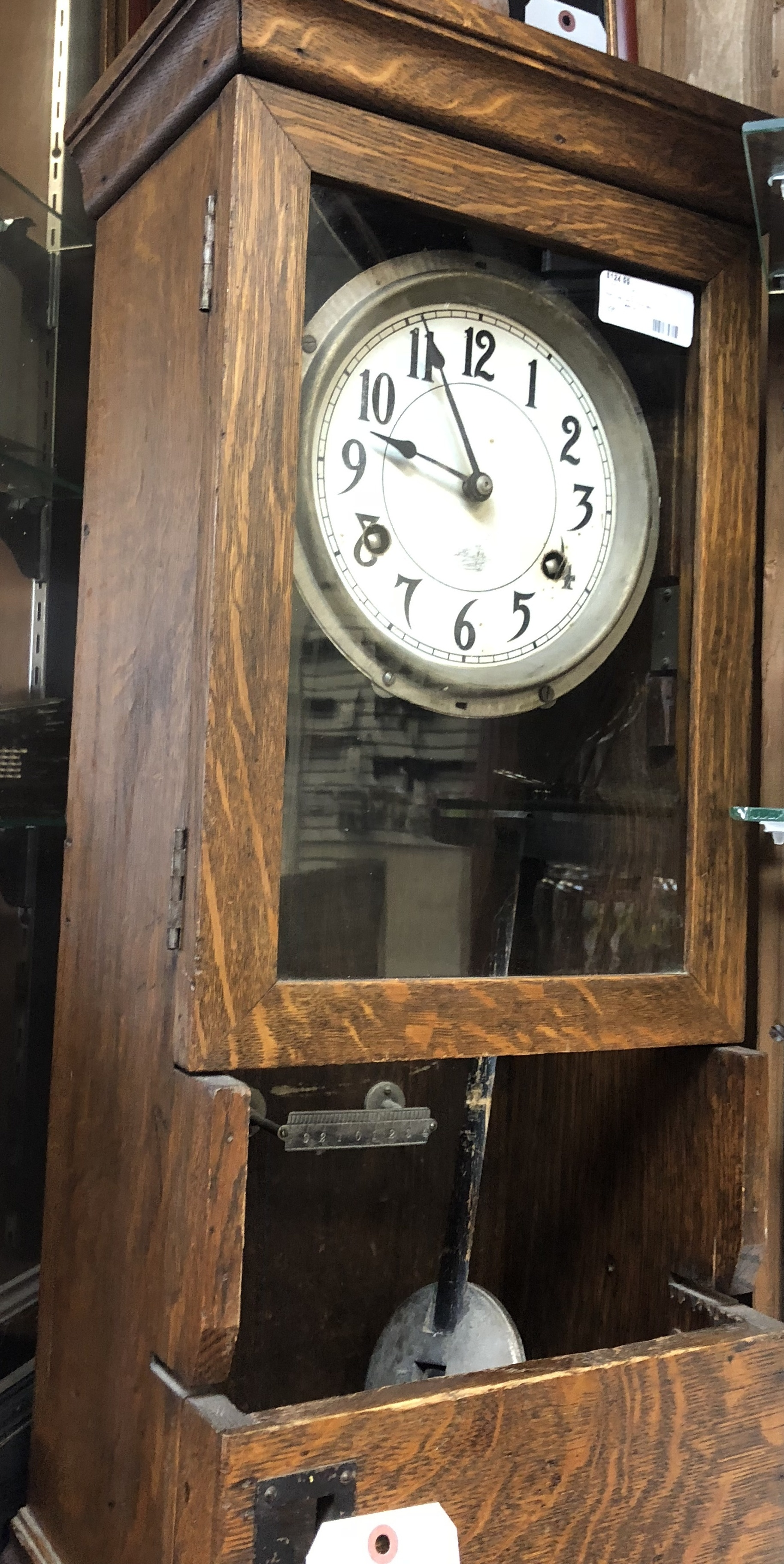 PENDULUM PUNCH CLOCK 1924