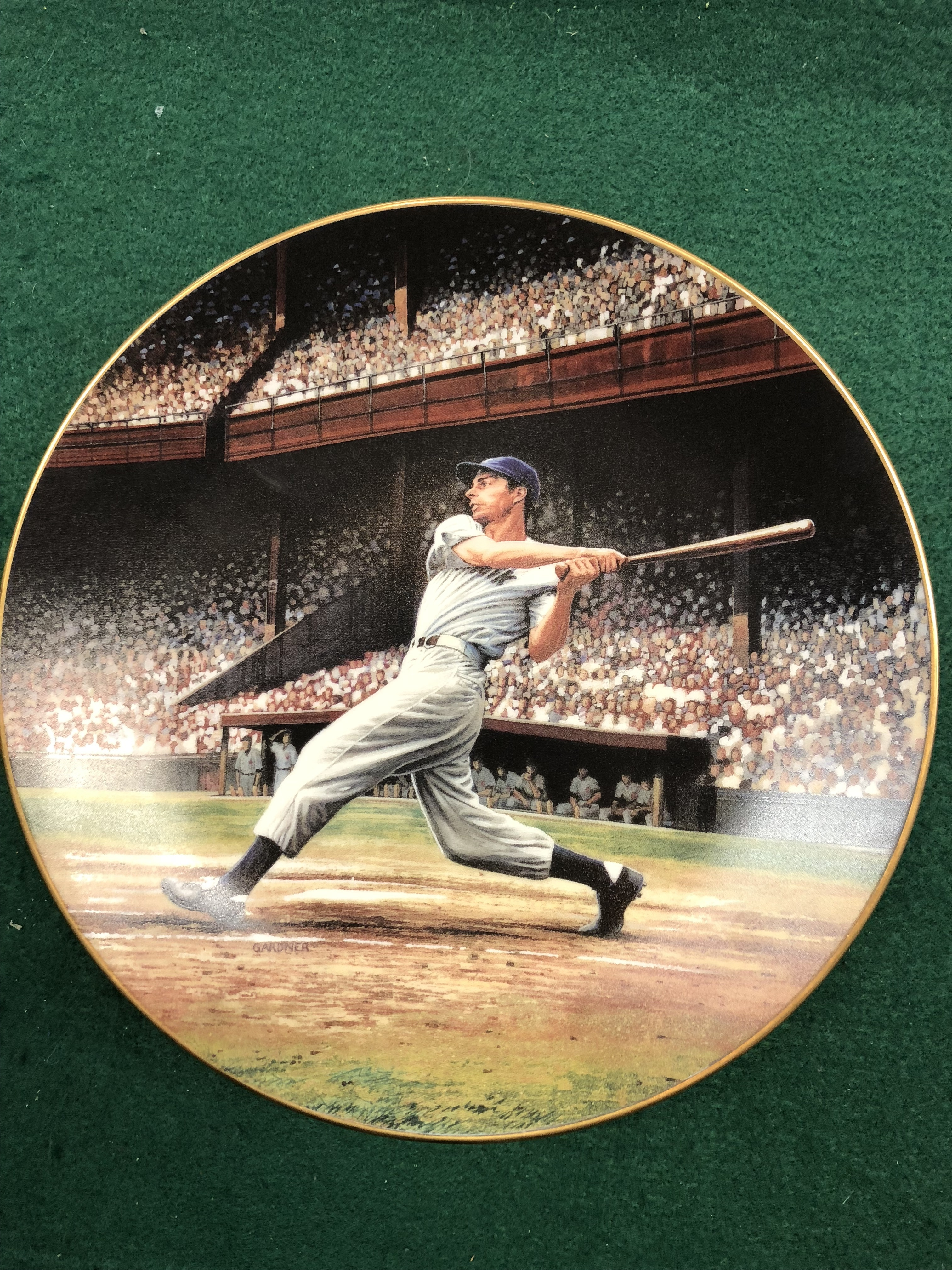 JOE DIMAGGIO THE STREAK 1993 PLATE