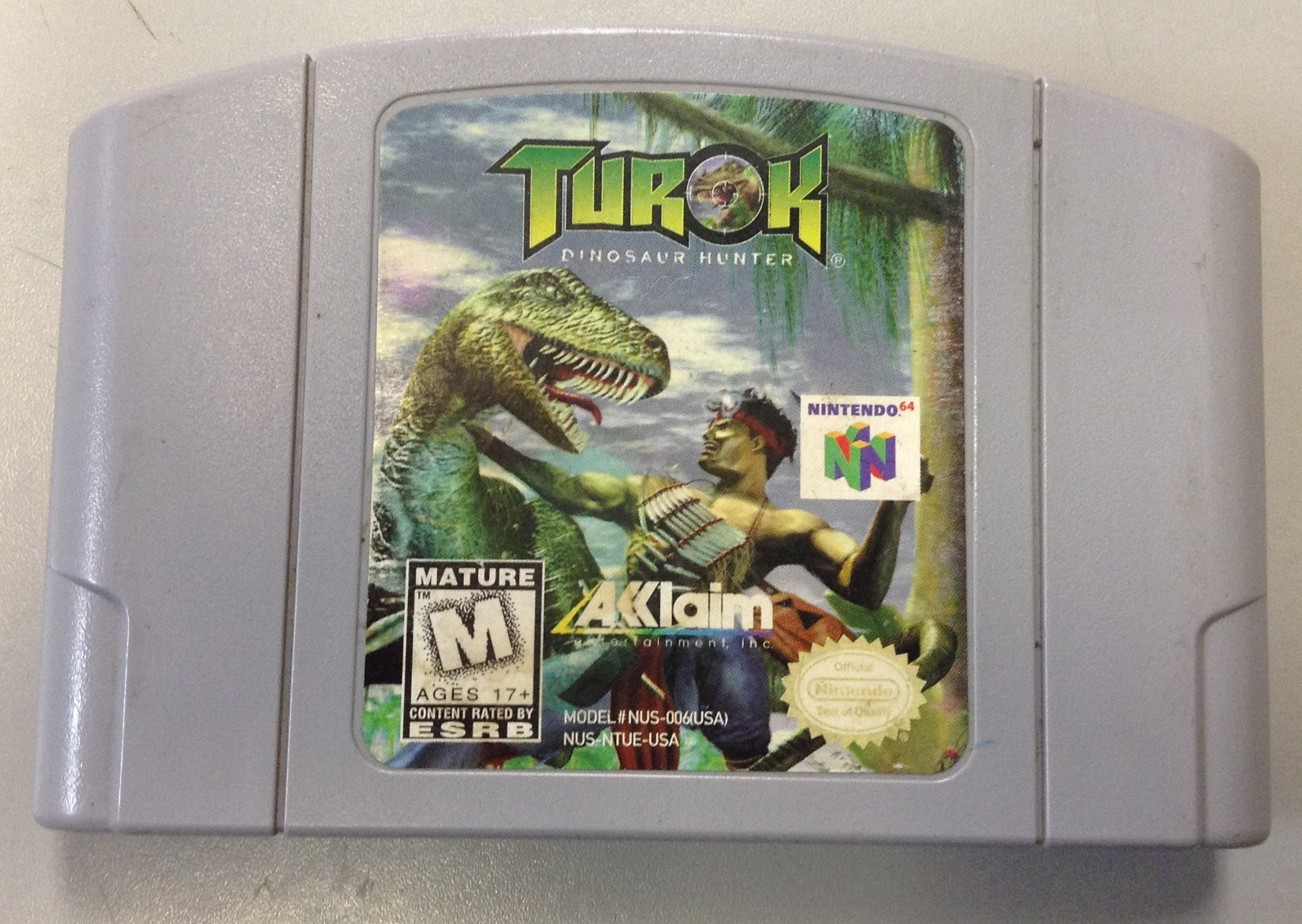 NINTENDO GAMES TUROK- NINTENDO 64 GAME CARTRIDGE