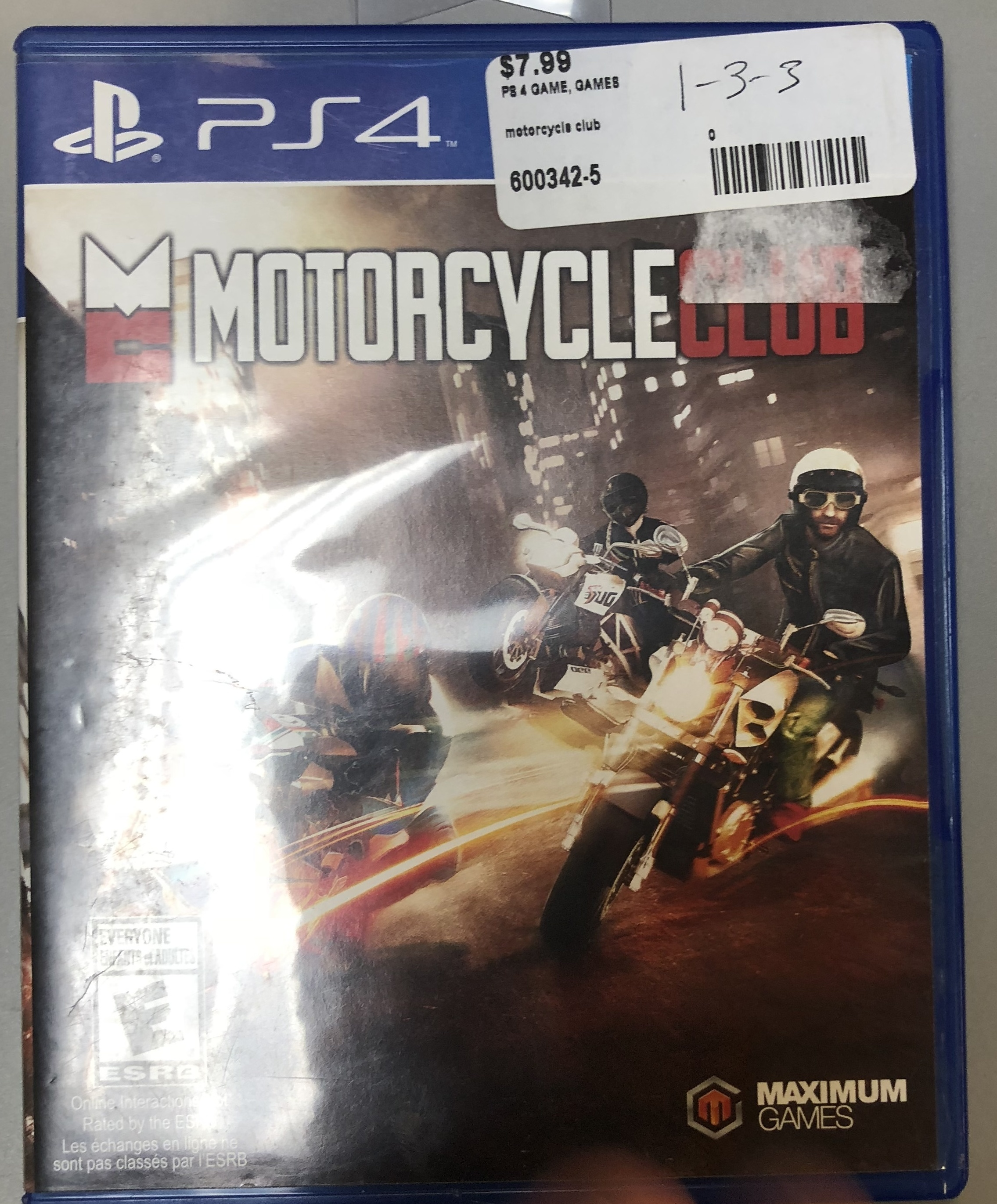 Motorcycle Club PS4