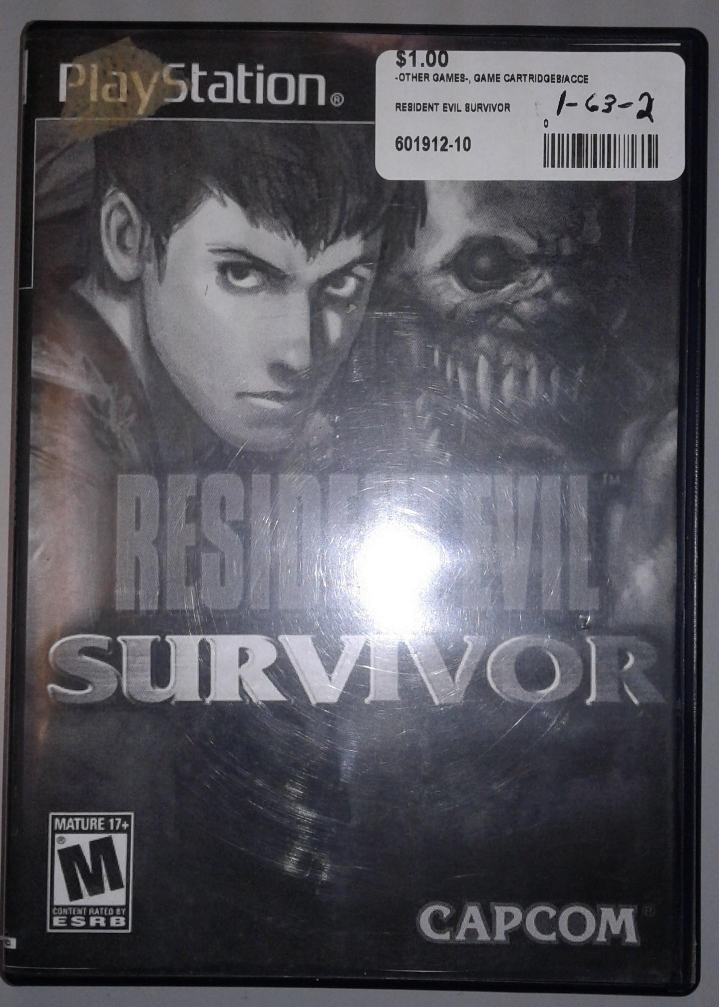 PLAYSTATION RESIDENT EVIL SURVIVOR