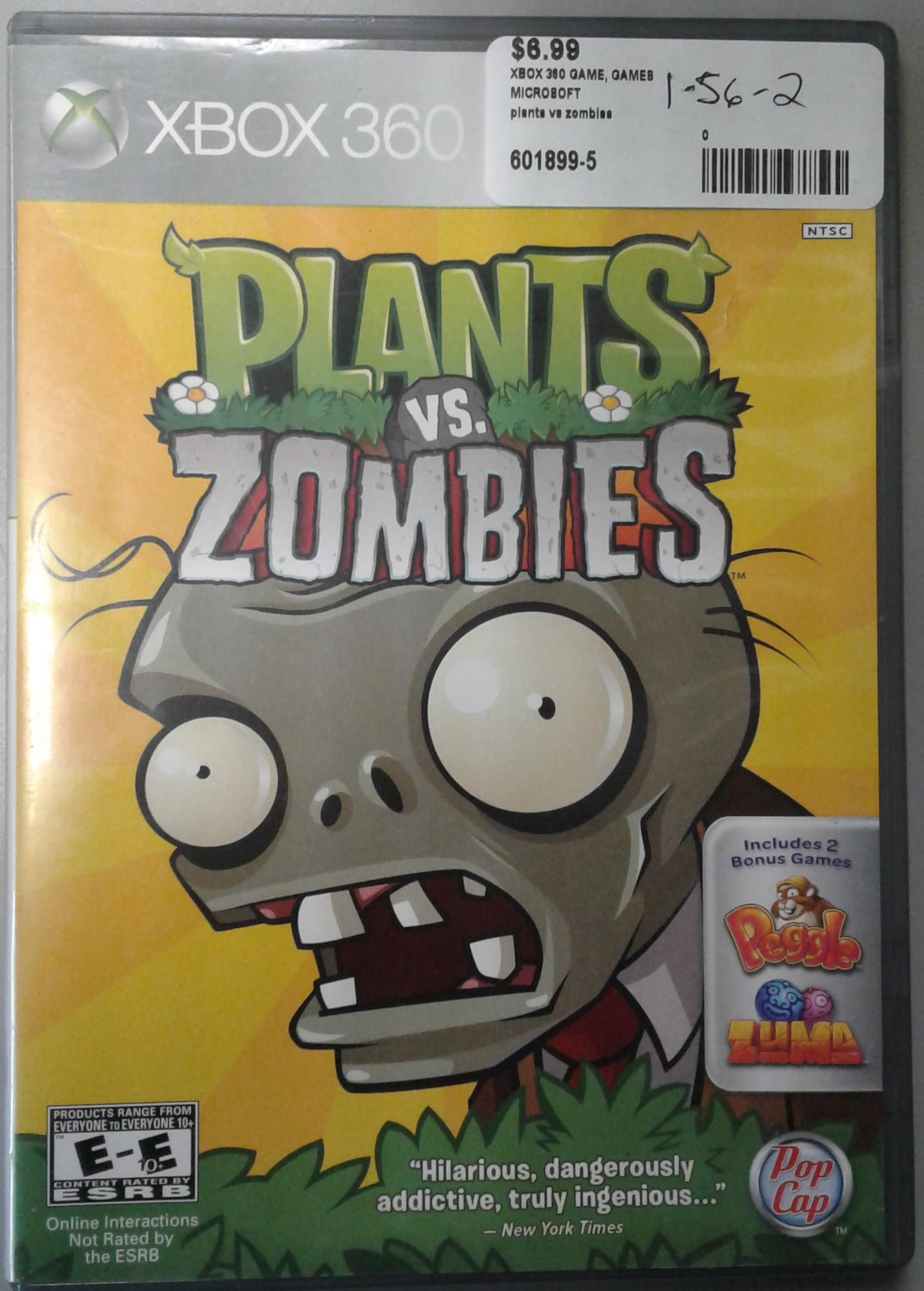 XBOX 360 PLANTS VS ZOMBIES