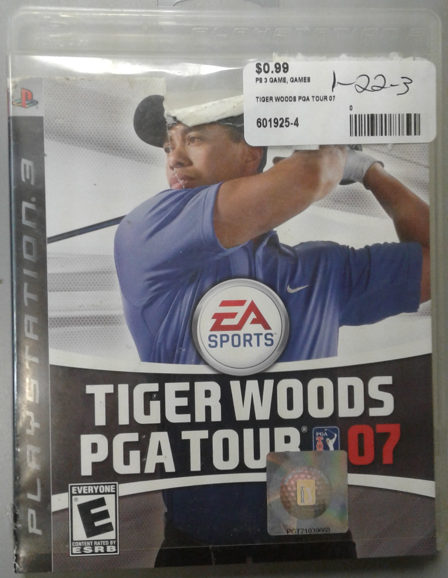 PS 3 TIGER WOODS PGA TOUR 07