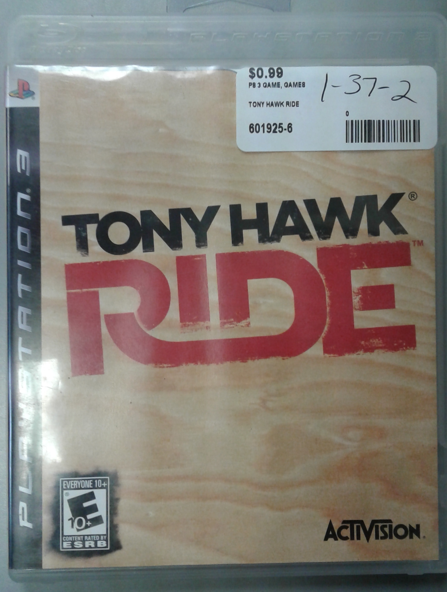 TONY HAWK RIDE FOR PS 3