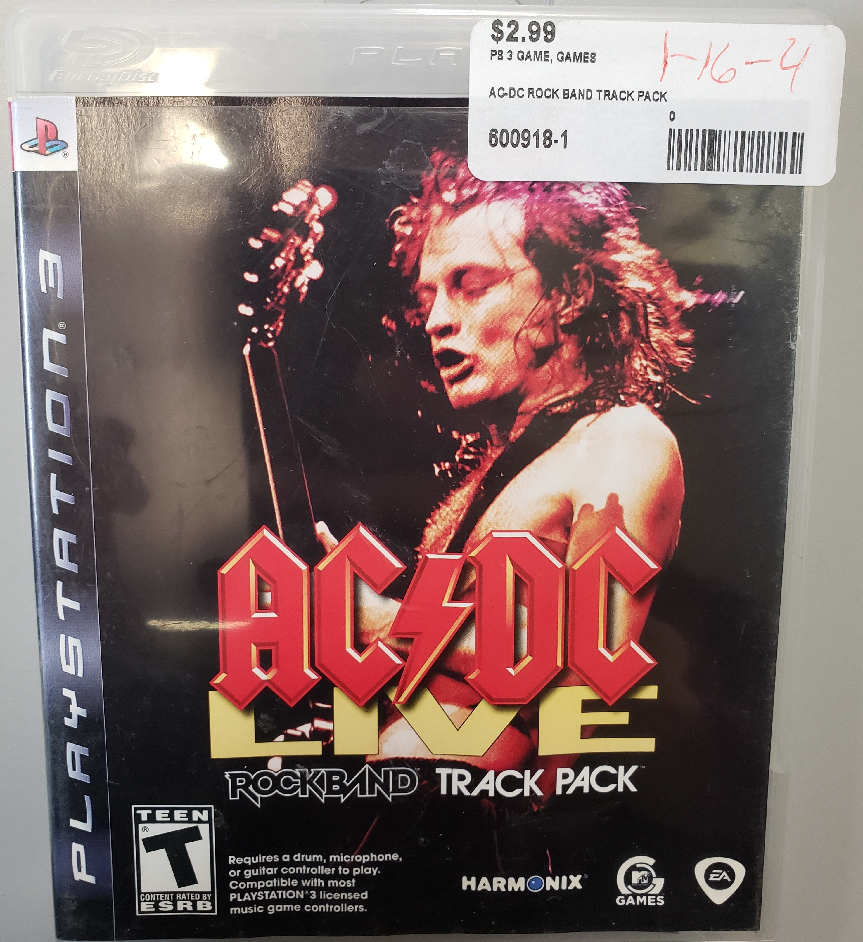 ROCKBAND - ACDC LIVE TRACK PACK - PS3 GAME