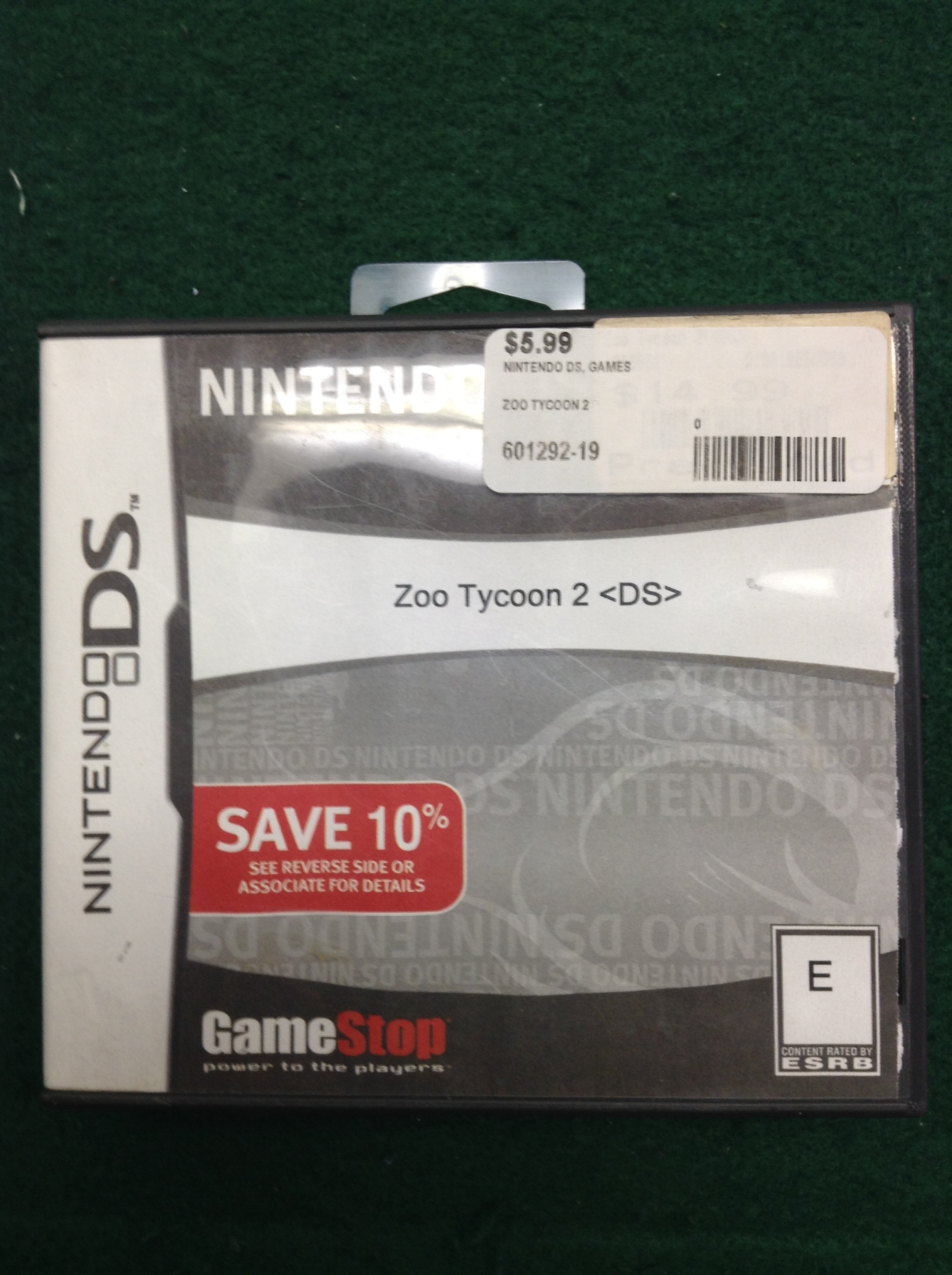 ZOO TYCOON 2 FOR NINTENDO DS