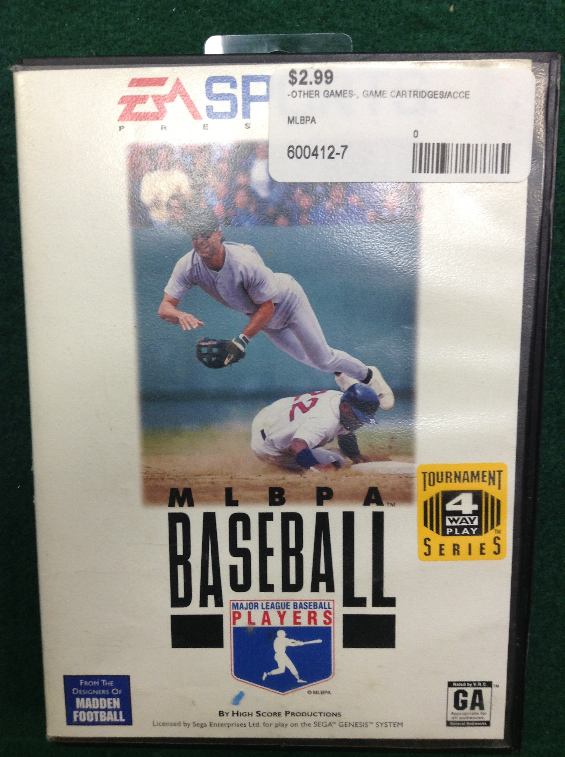 MLBPA BASEBALL FOR SEGA GENESIS