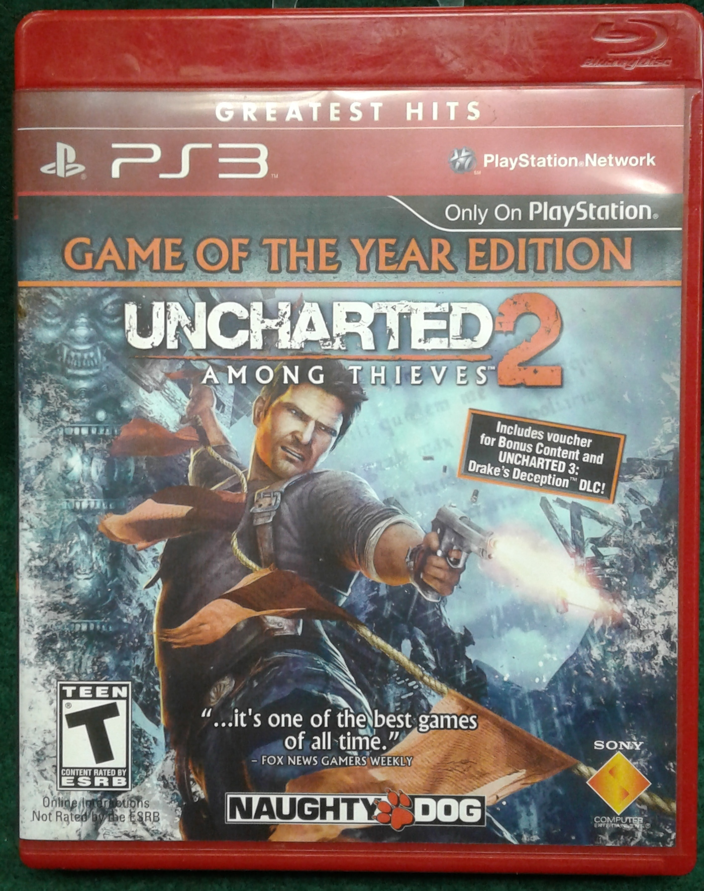 UNCHARTED 2: AMONG THIEVES GAME OF THE YEAR EDITION - PS3 GAME