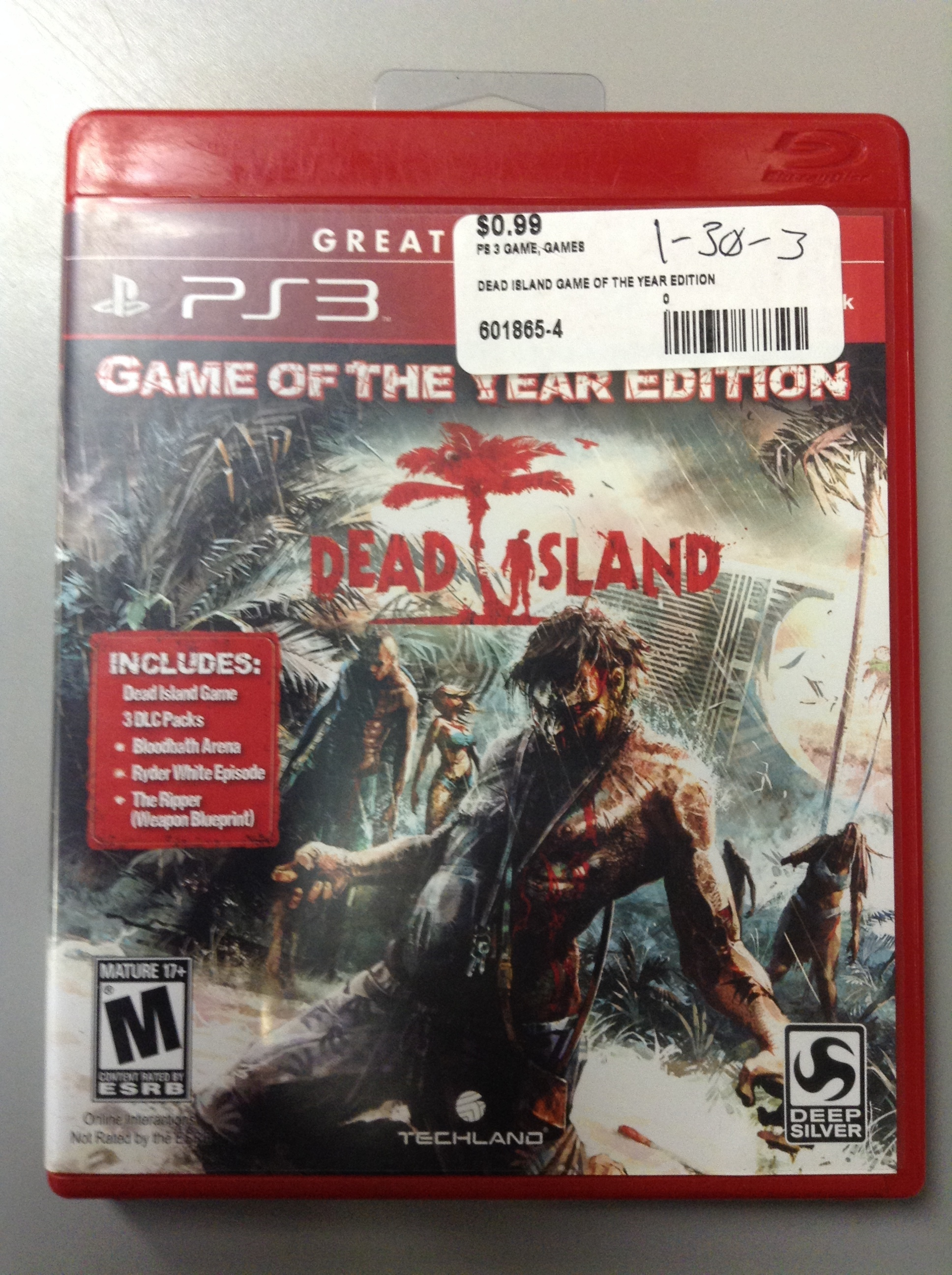 DEAD ISLAND GAME OF THE YEAR EDITION FOR PS 3