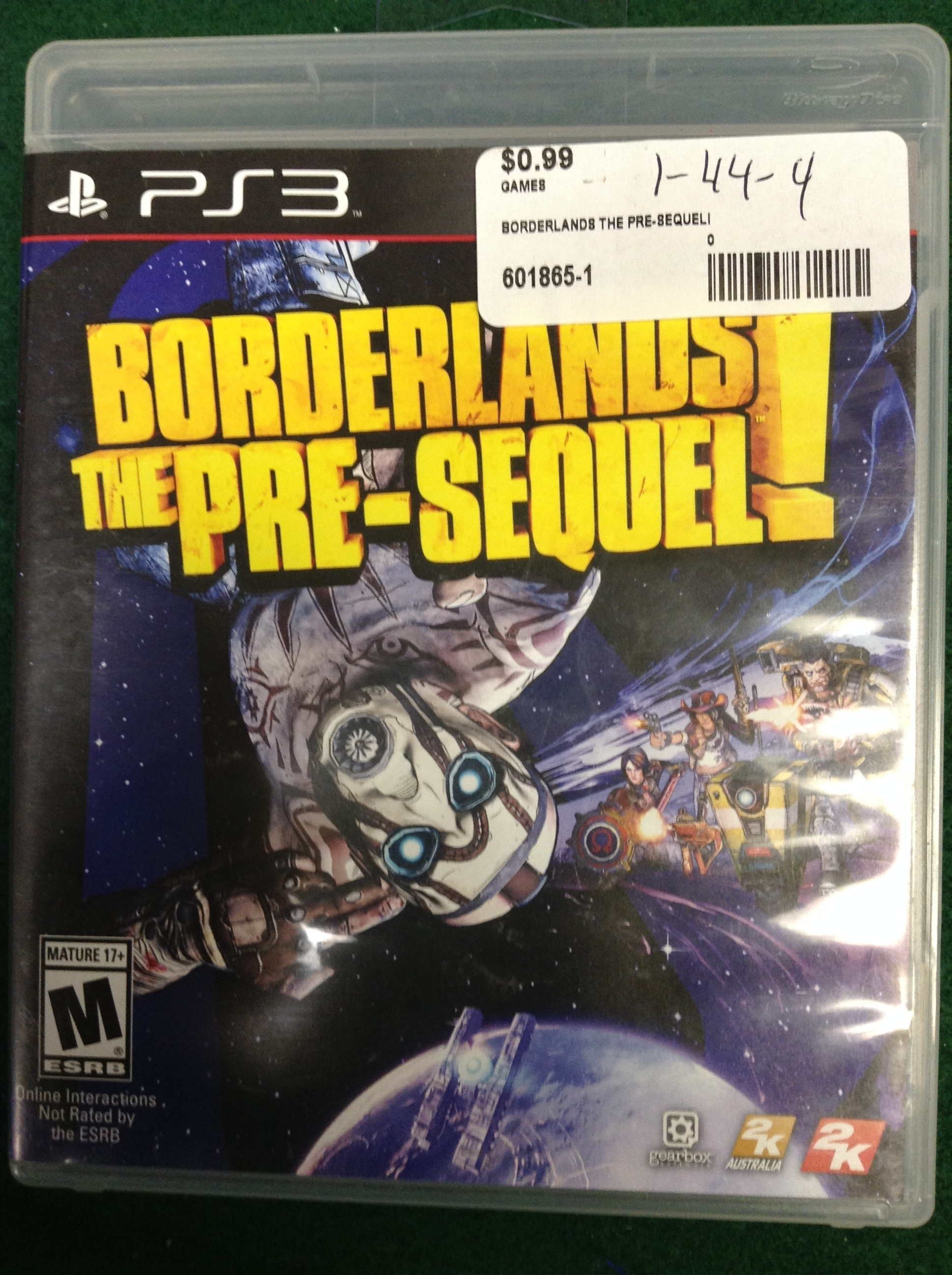 BORDERLANDS THE PRE-SEQUEL FOR PS 3