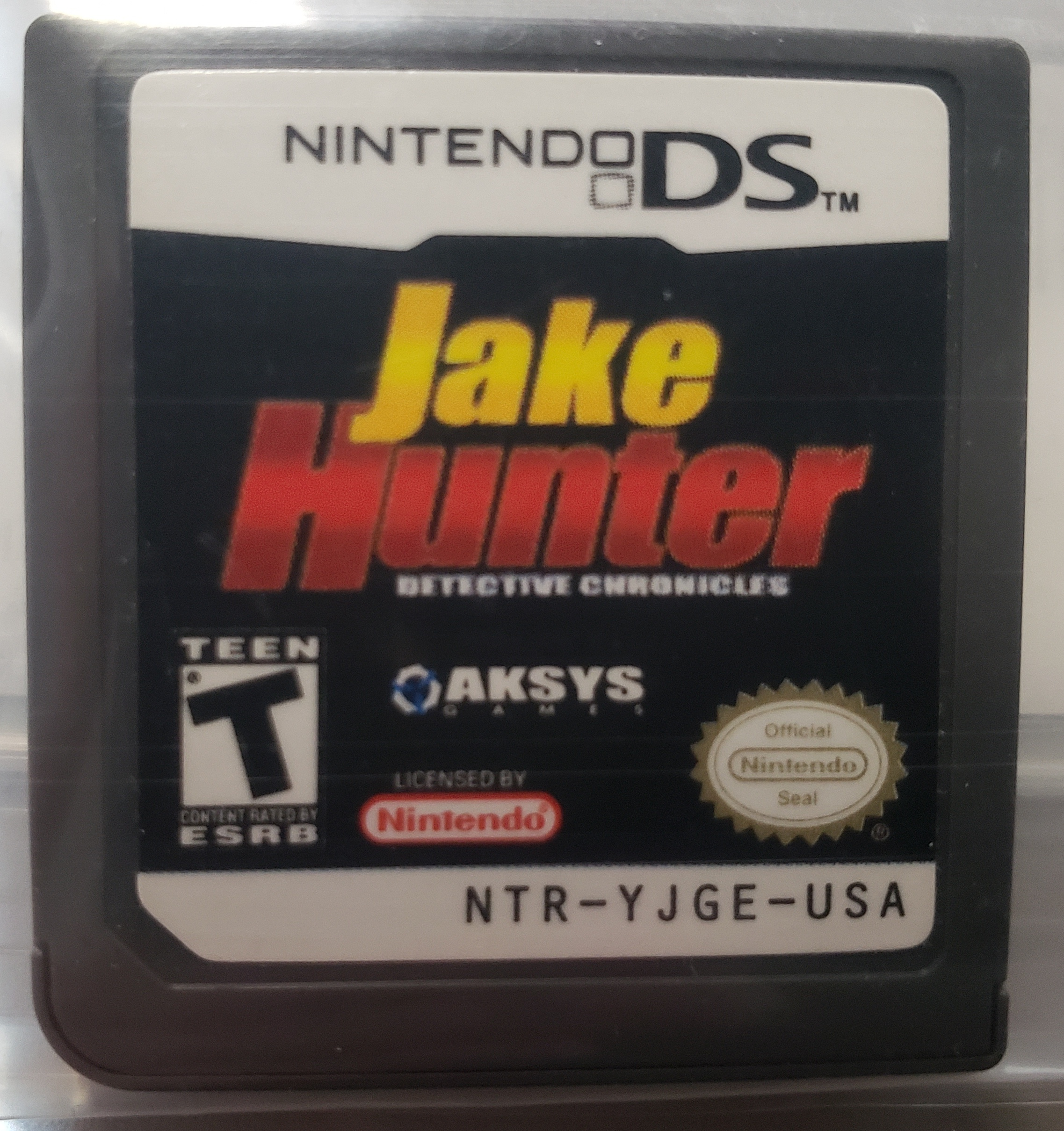 JAKE HUNTER DETECTIVE CHRONICLES, NINTENDO DS GAME