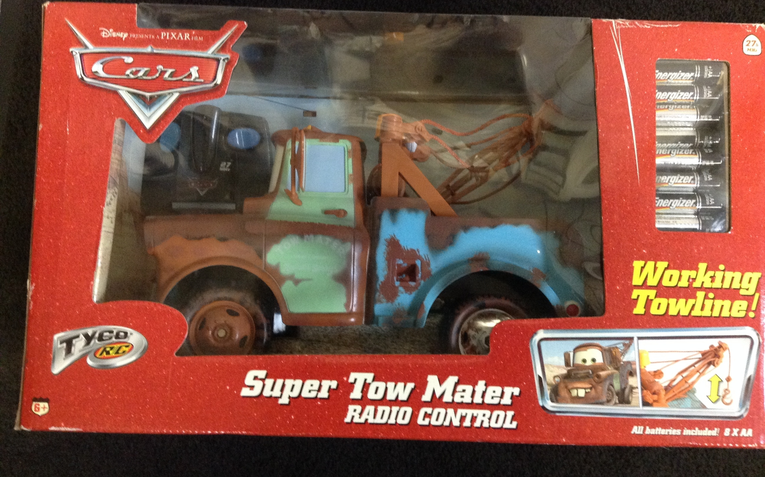 DISNEY CARS TOW MATER RADIO CONTROL VEHICLE