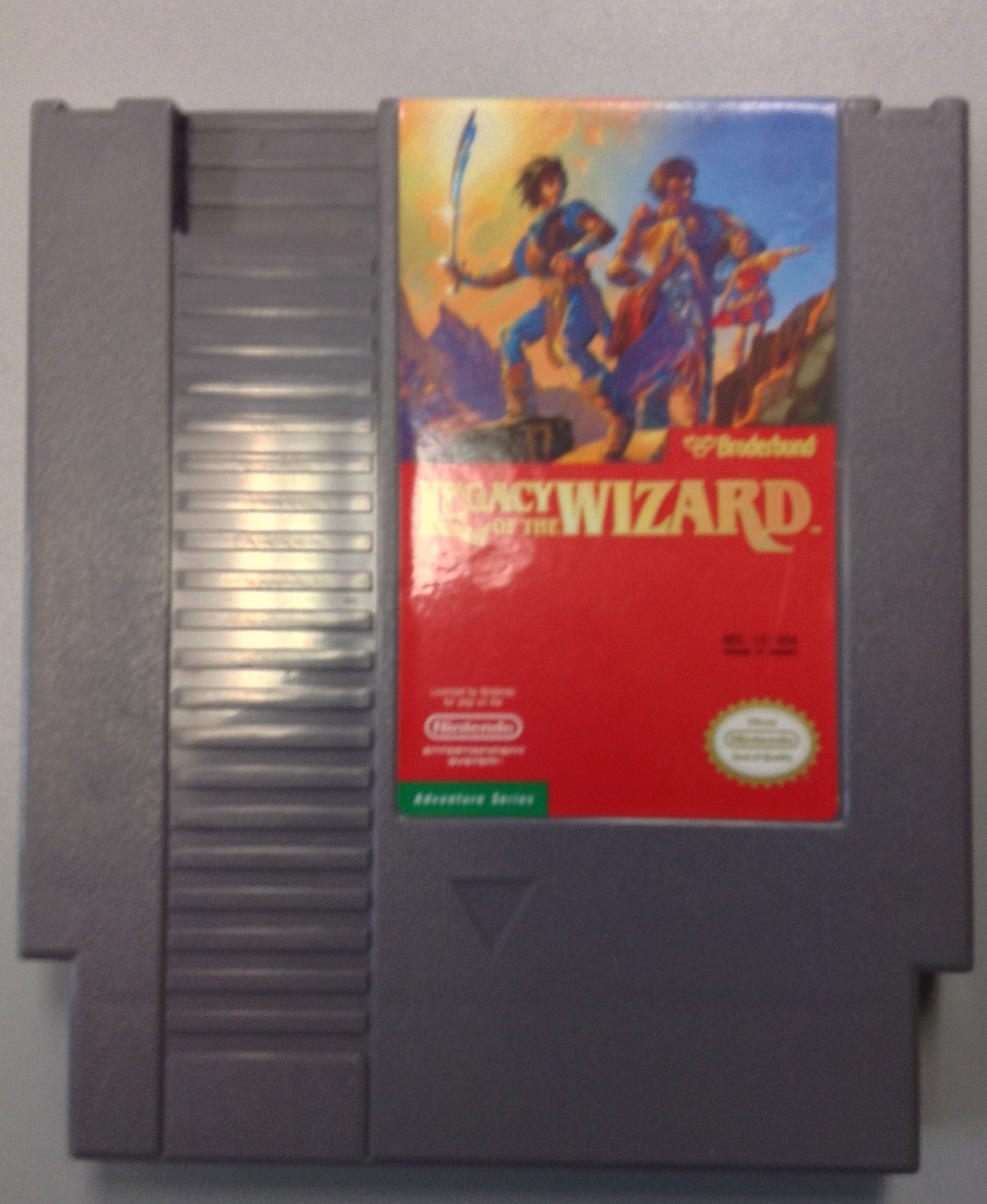 LEGACY OF THE WIZARD- NINTENDO GAME CARTRIDGES/ACCE