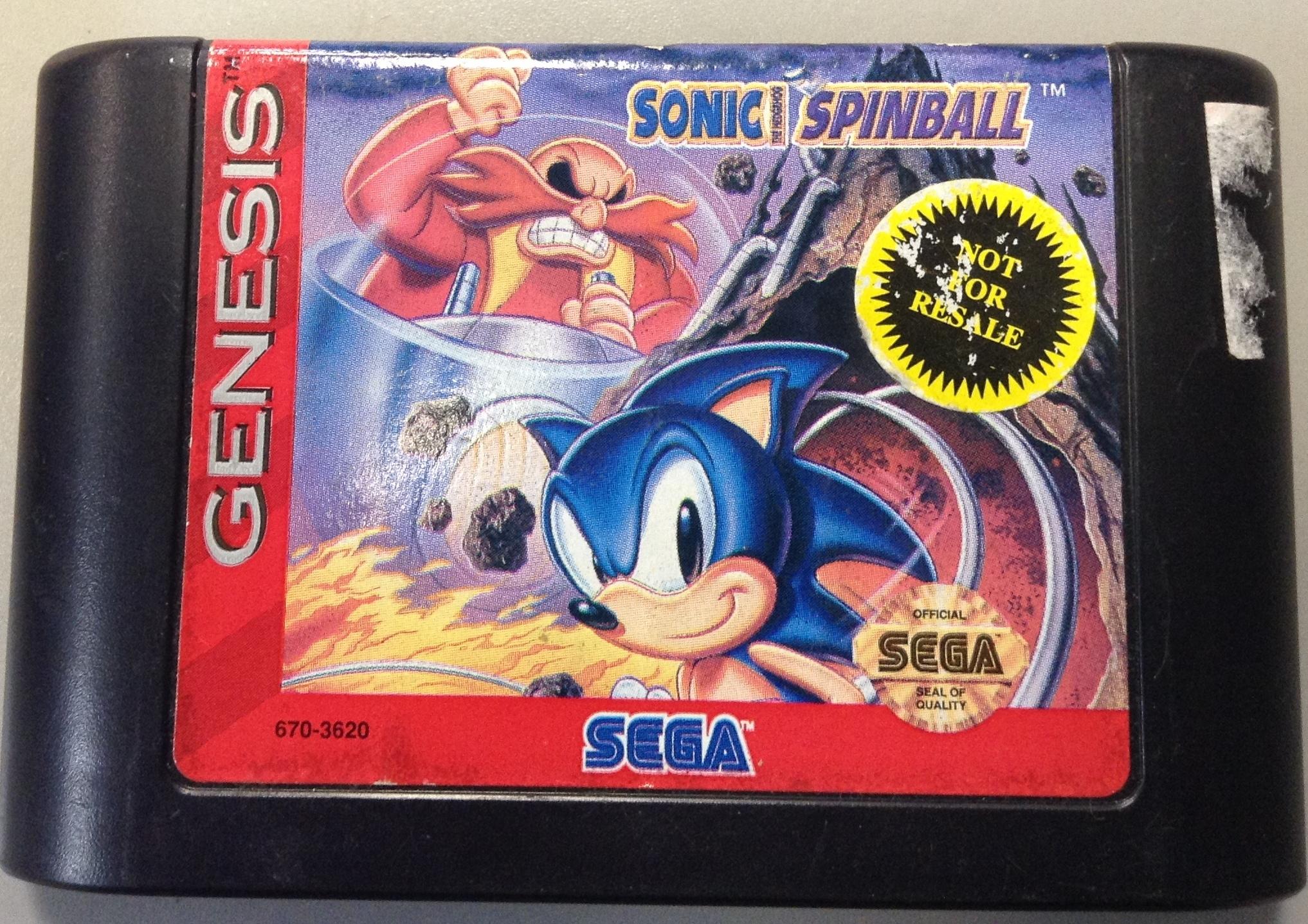 SONIC SPINBALL - SEGA GENESIS GAME