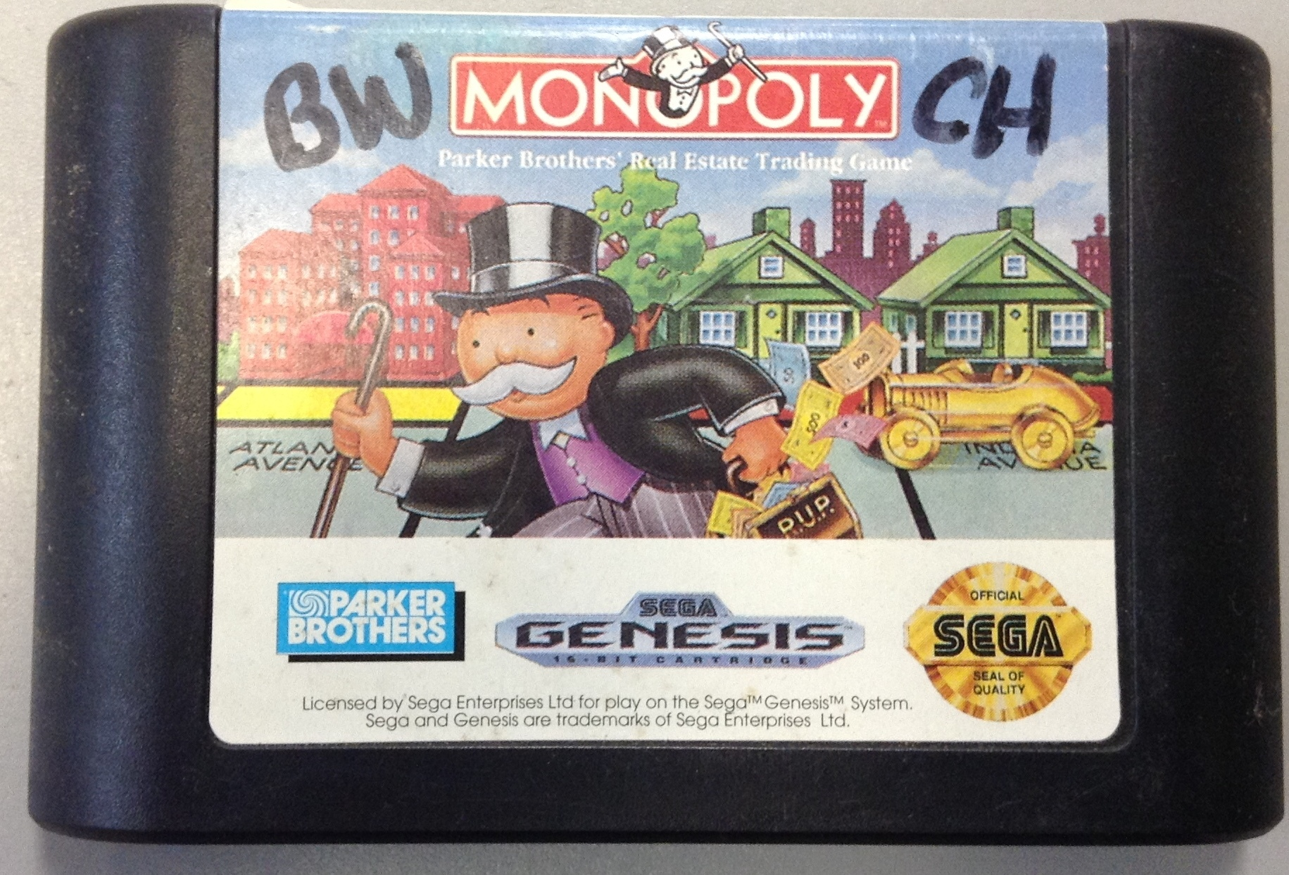 MONOPOLY - SEGA GENESIS GAME CARTRIDGES/ACCE