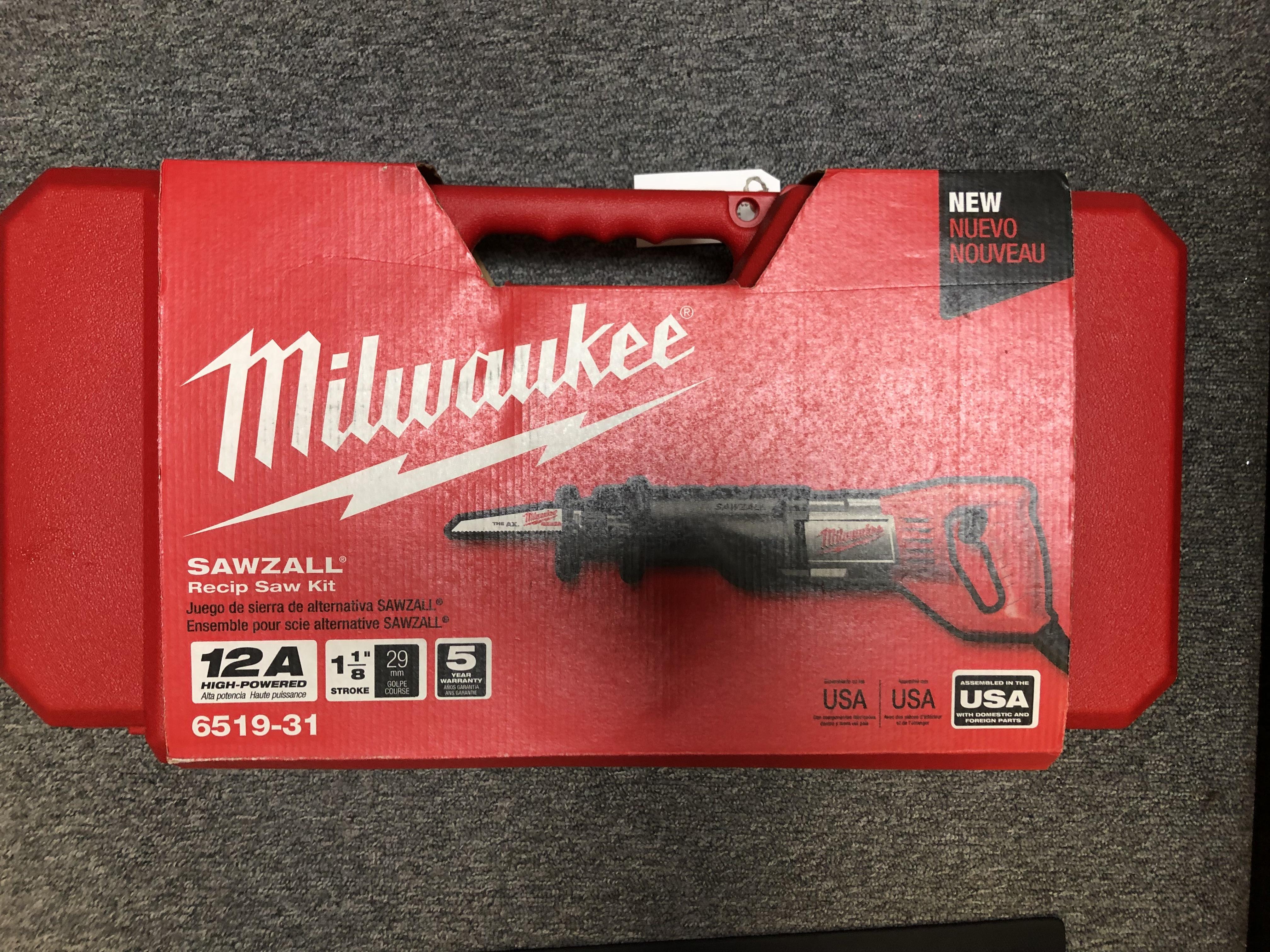 MILWAUKEE - 6519-30 RECIPROCATING SAW