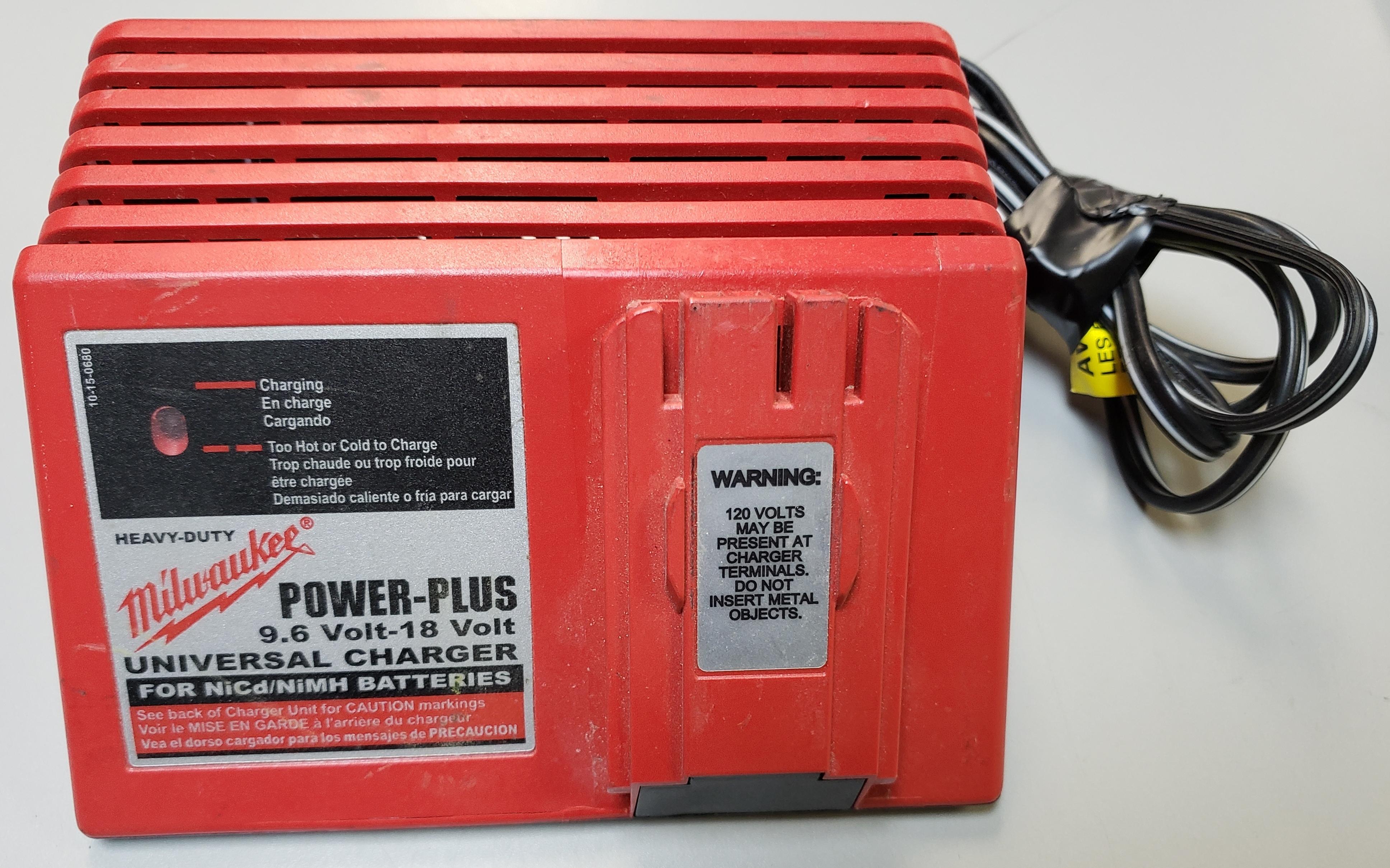 MILWAUKEE - 48-59-0255 - POWER-PLUS 9.6V-18V UNIVERSAL BATTERY CHARGER