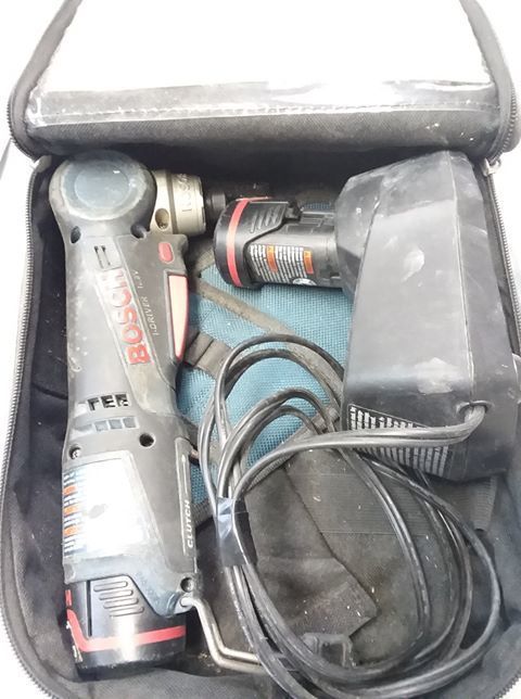 BOSCH CORDLESS DRIVER DRILL W/ 2 BATTERIES AND CHARGER AND BAG