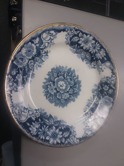 CHINA- COLLECTIBLE BLUE FLOWERED PLATE