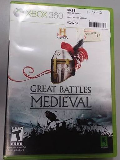 XBOX 360 MEDIEVAL GREAT BATTLES