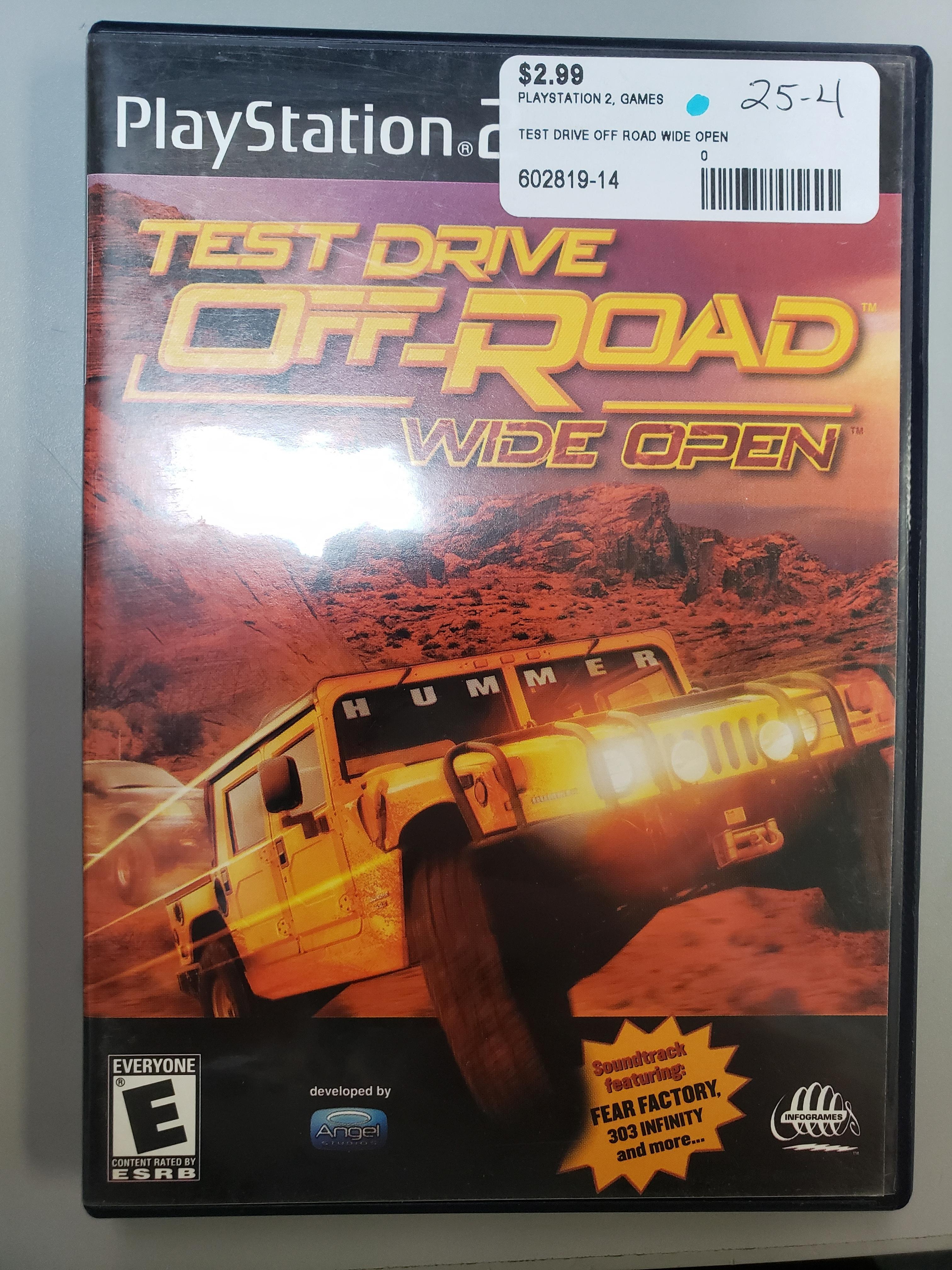 TEST DRIVE OFF ROAD WIDE OPEN - PS2 GAME