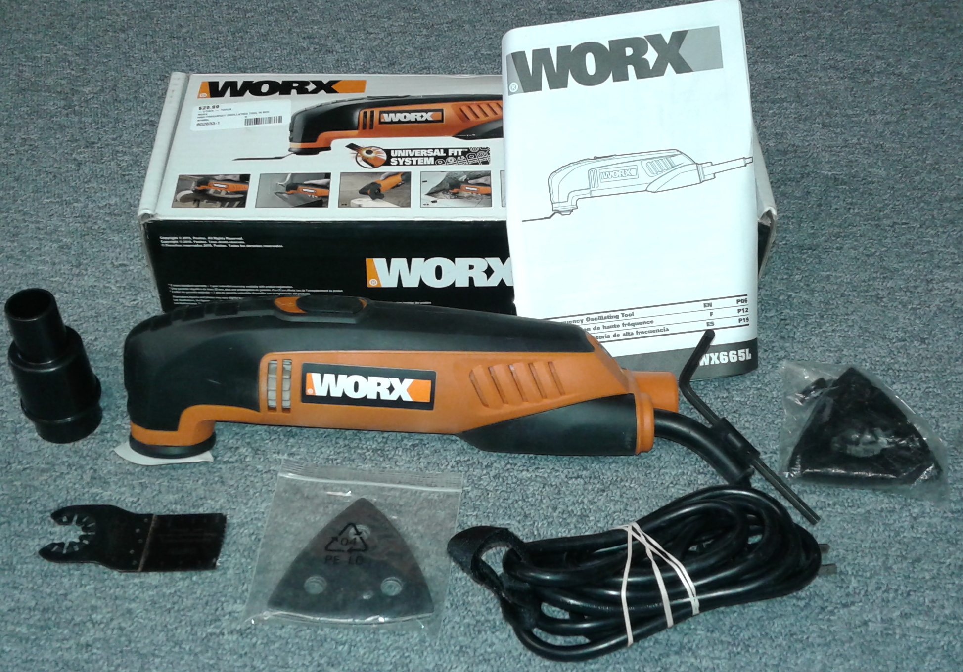 WORX HIGH FREQUENCY OSCILLATING TOOL WX665L
