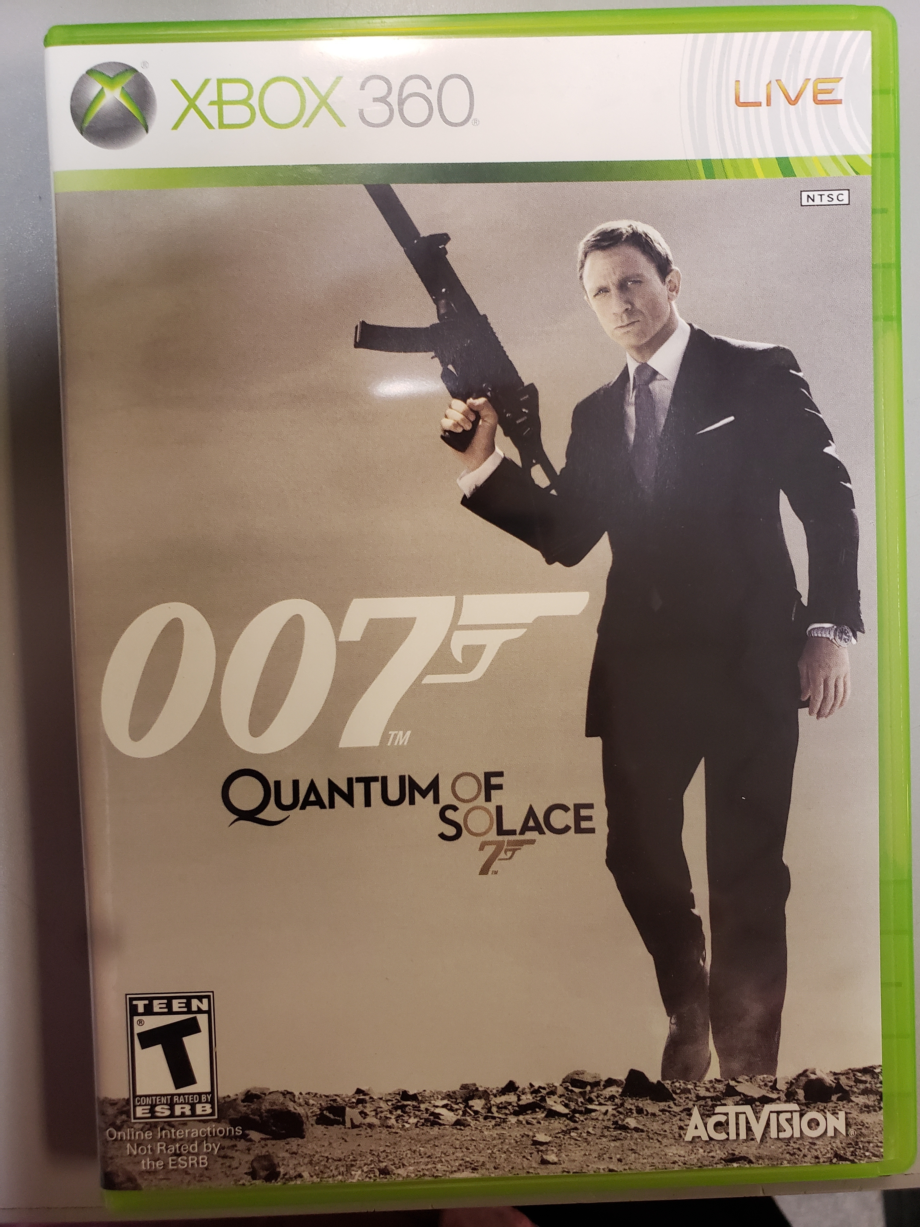 007 QUANTUM OF SOLACE - XBOX 360 GAME